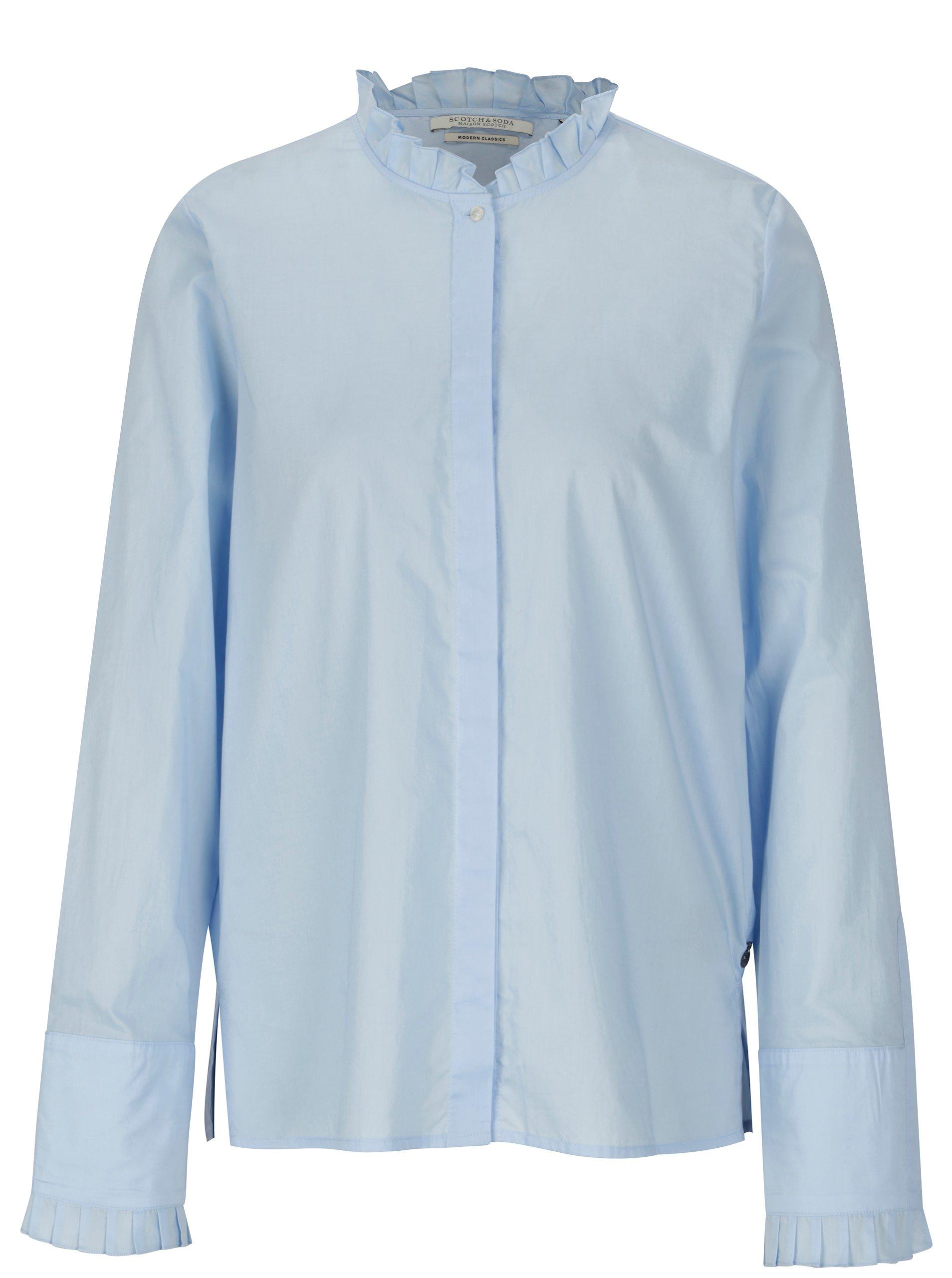 20de8df0247d Světle modrá košile s volány Scotch   Soda