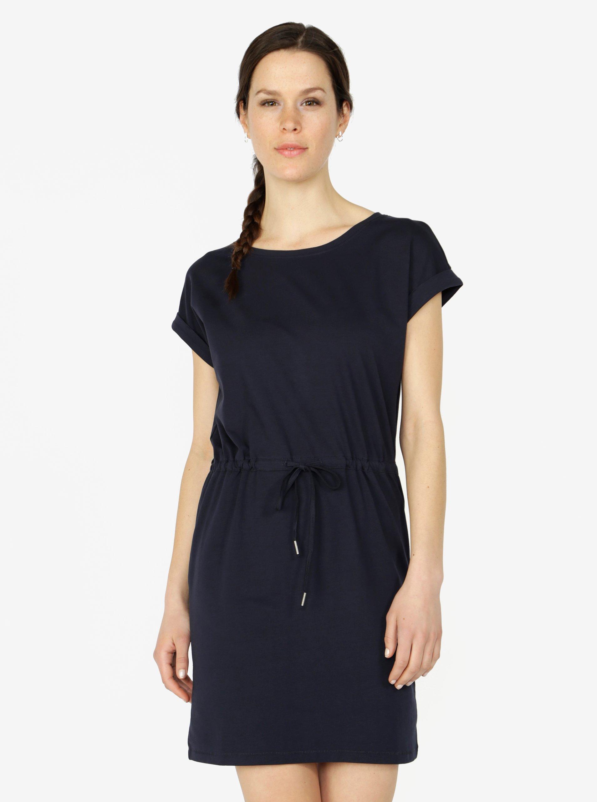 Tmavomodré šaty s krátkym rukávom ONLY Amber
