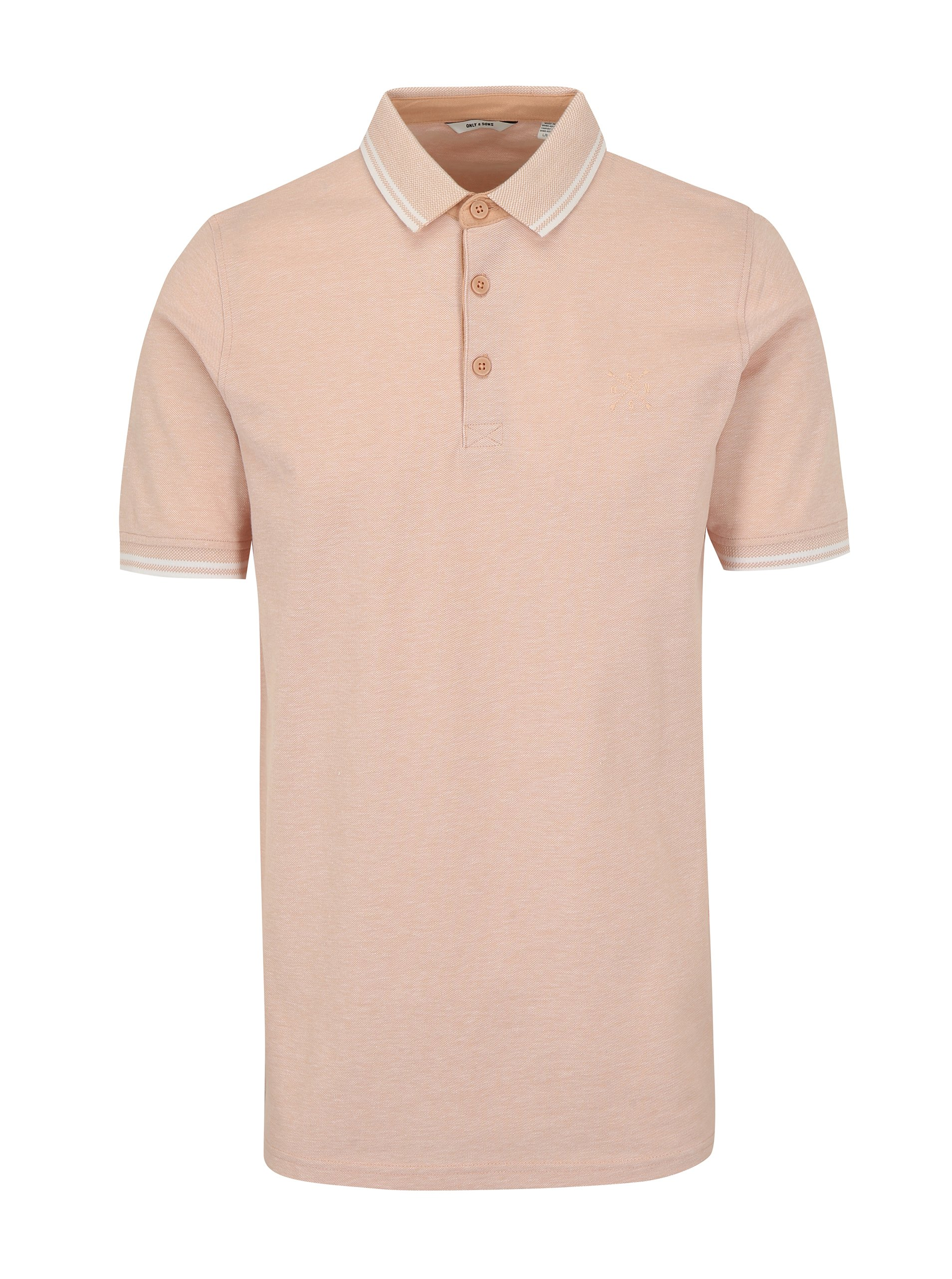 Světle růžové polo tričko ONLY & SONS Stan