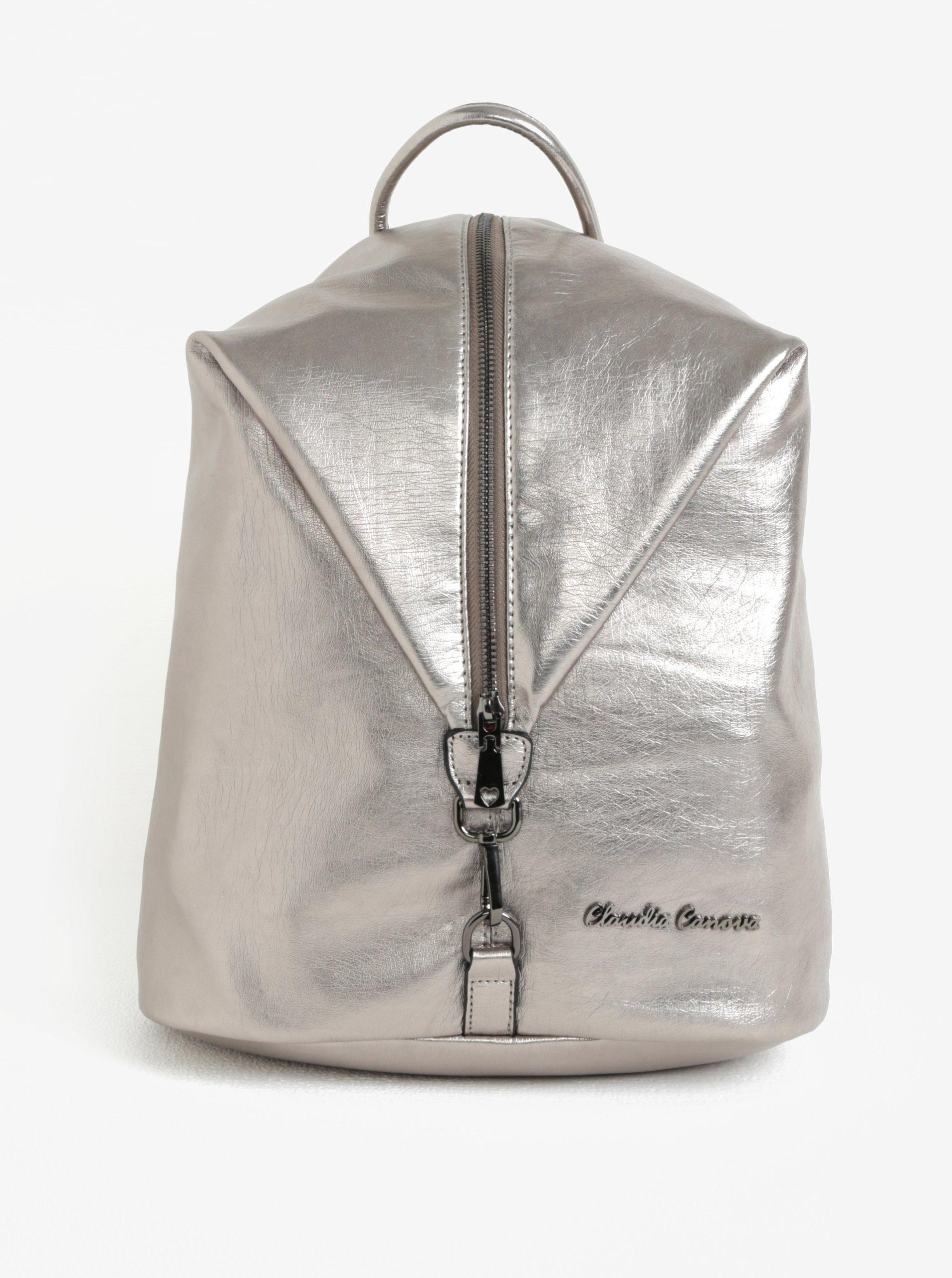 Batoh ve stříbrné barvě Claudia Canova Lagoon