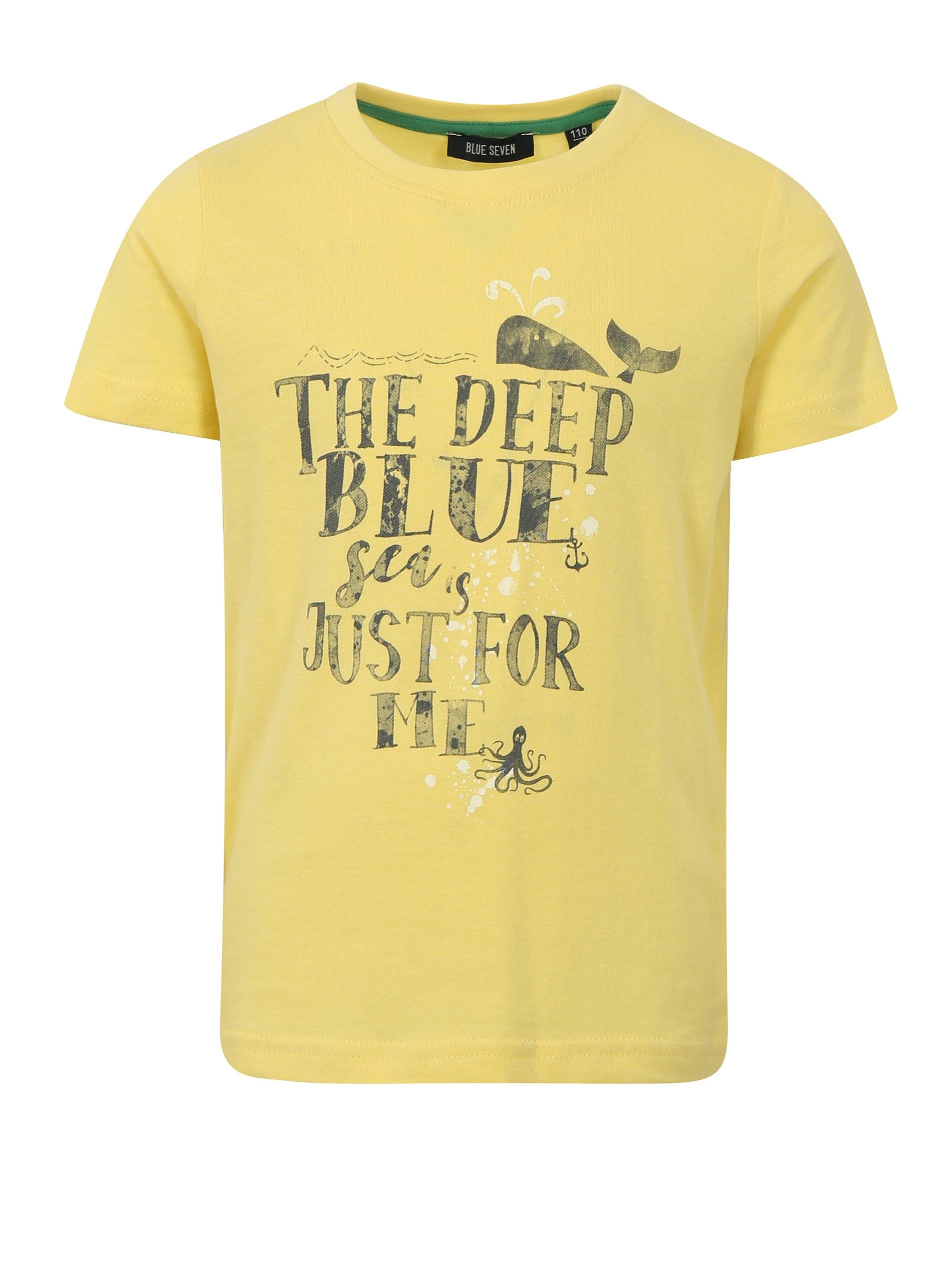 Žluté klučičí tričko s potiskem Blue Seven 2550f14e4d