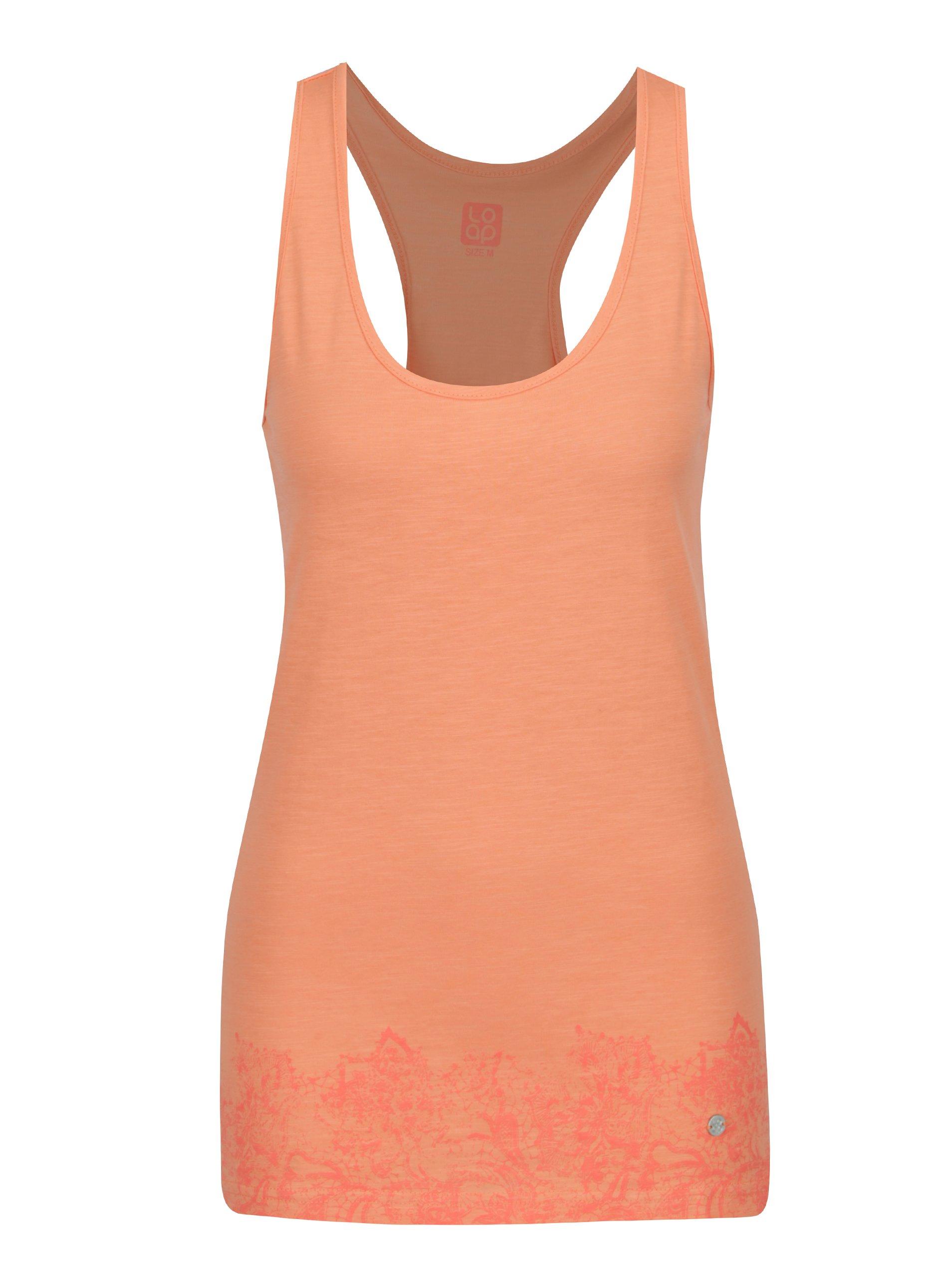 fccb68b35307 Oranžové dámske tielko s potlačou LOAP Bale