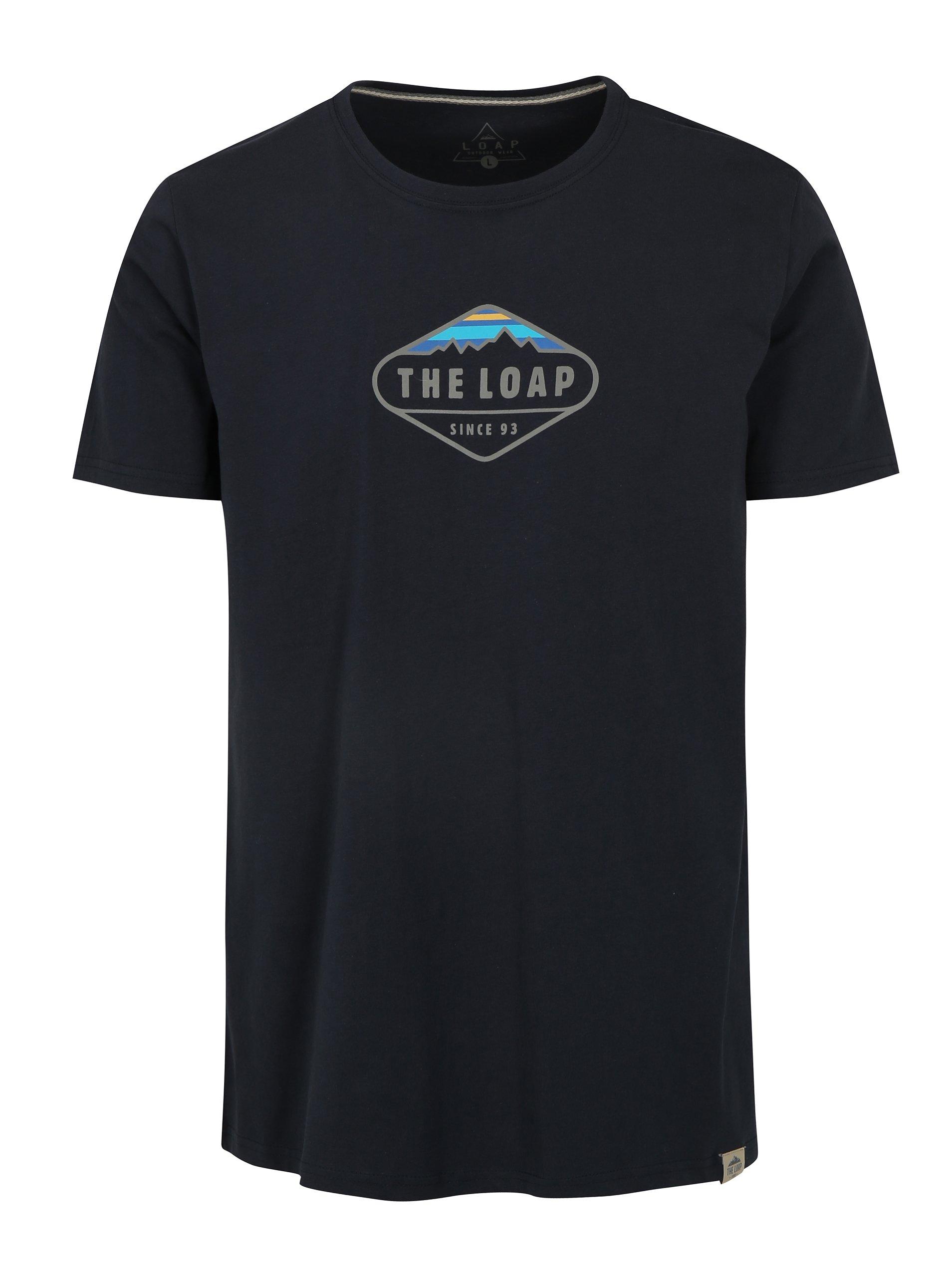 Tmavě modré pánské tričko LOAP Bandos