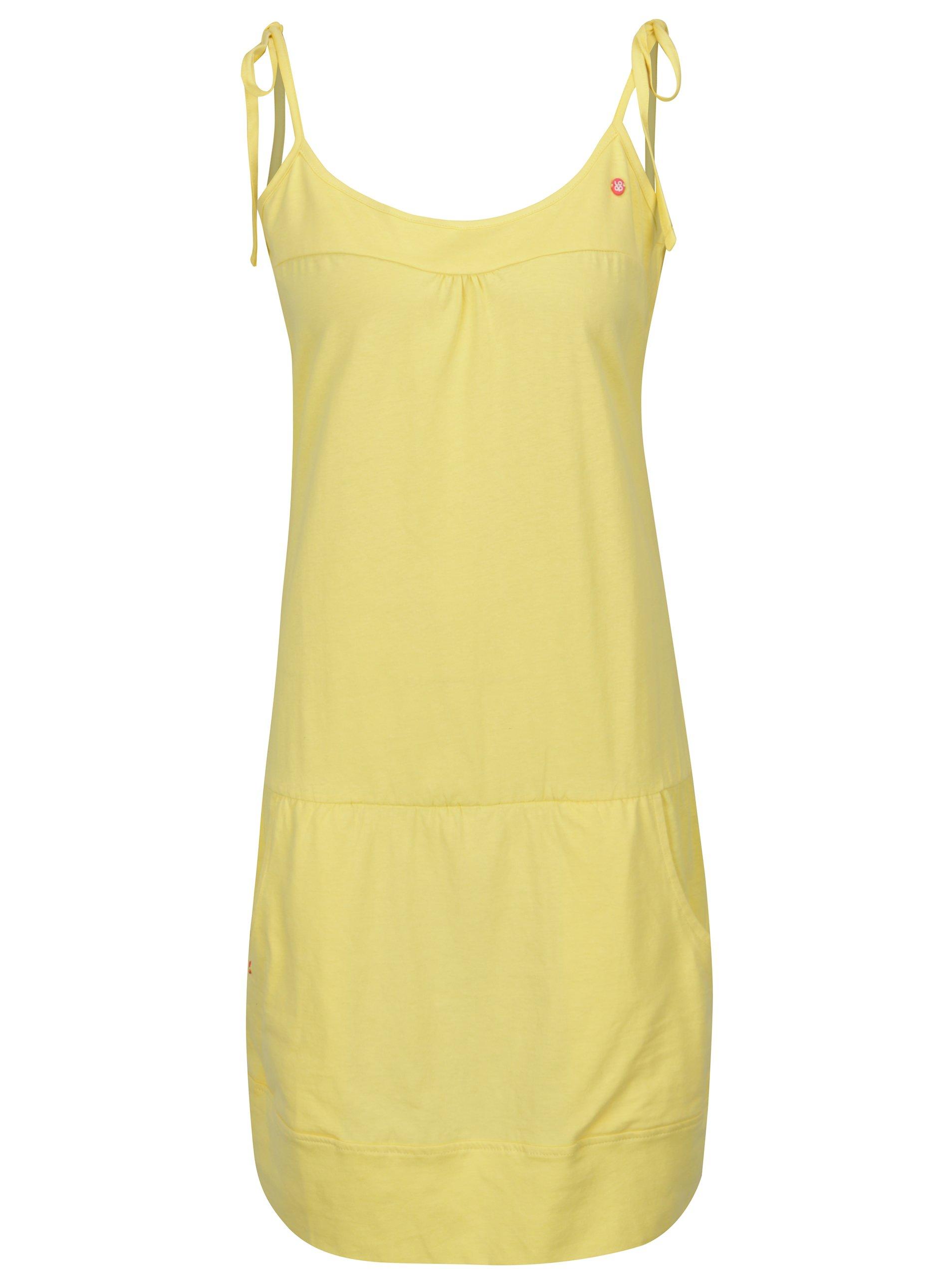 žluté šaty s kasami LOAP Alara