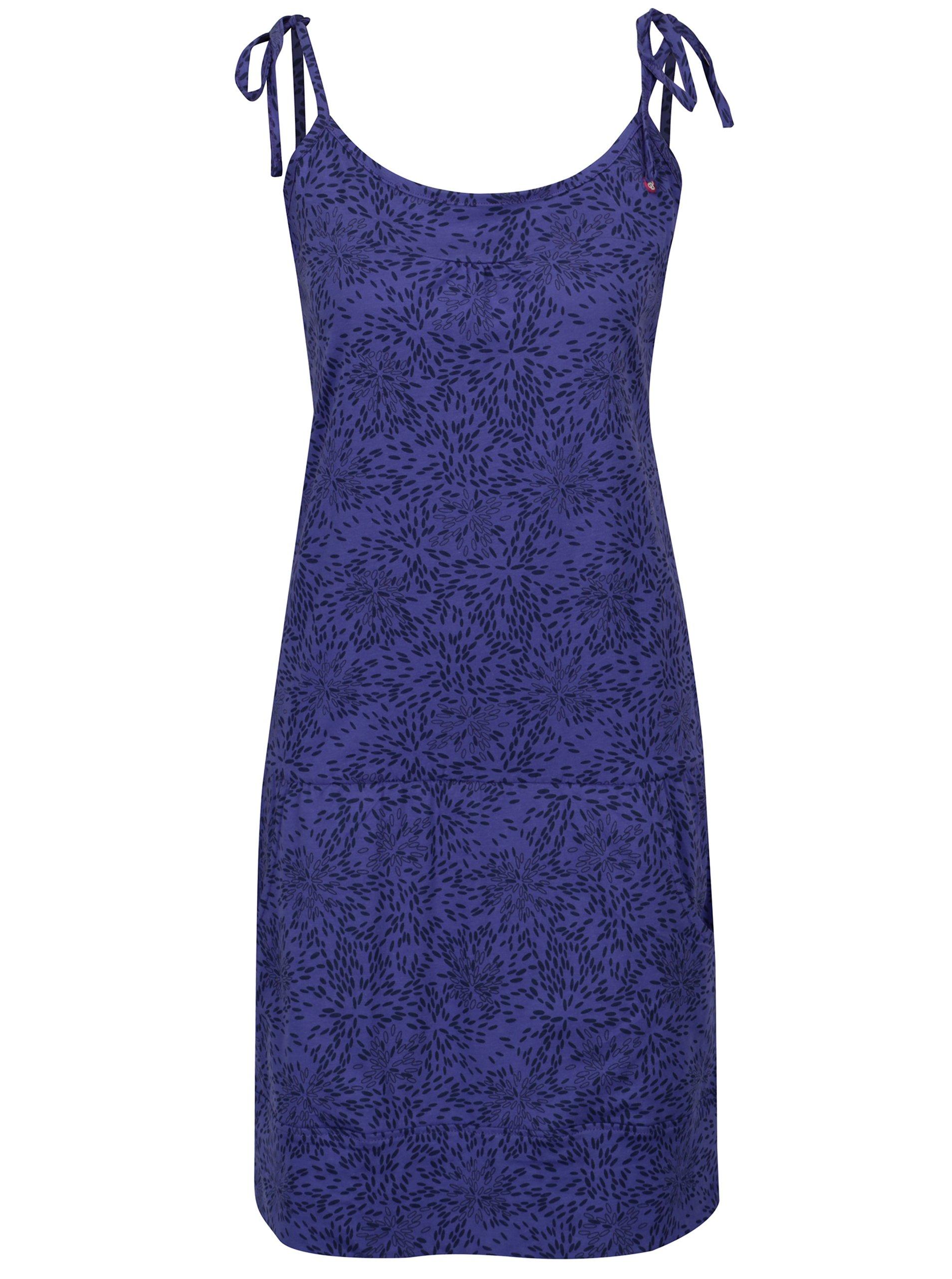 Tmavě fialové vzorované šaty s kapsami LOAP Amie