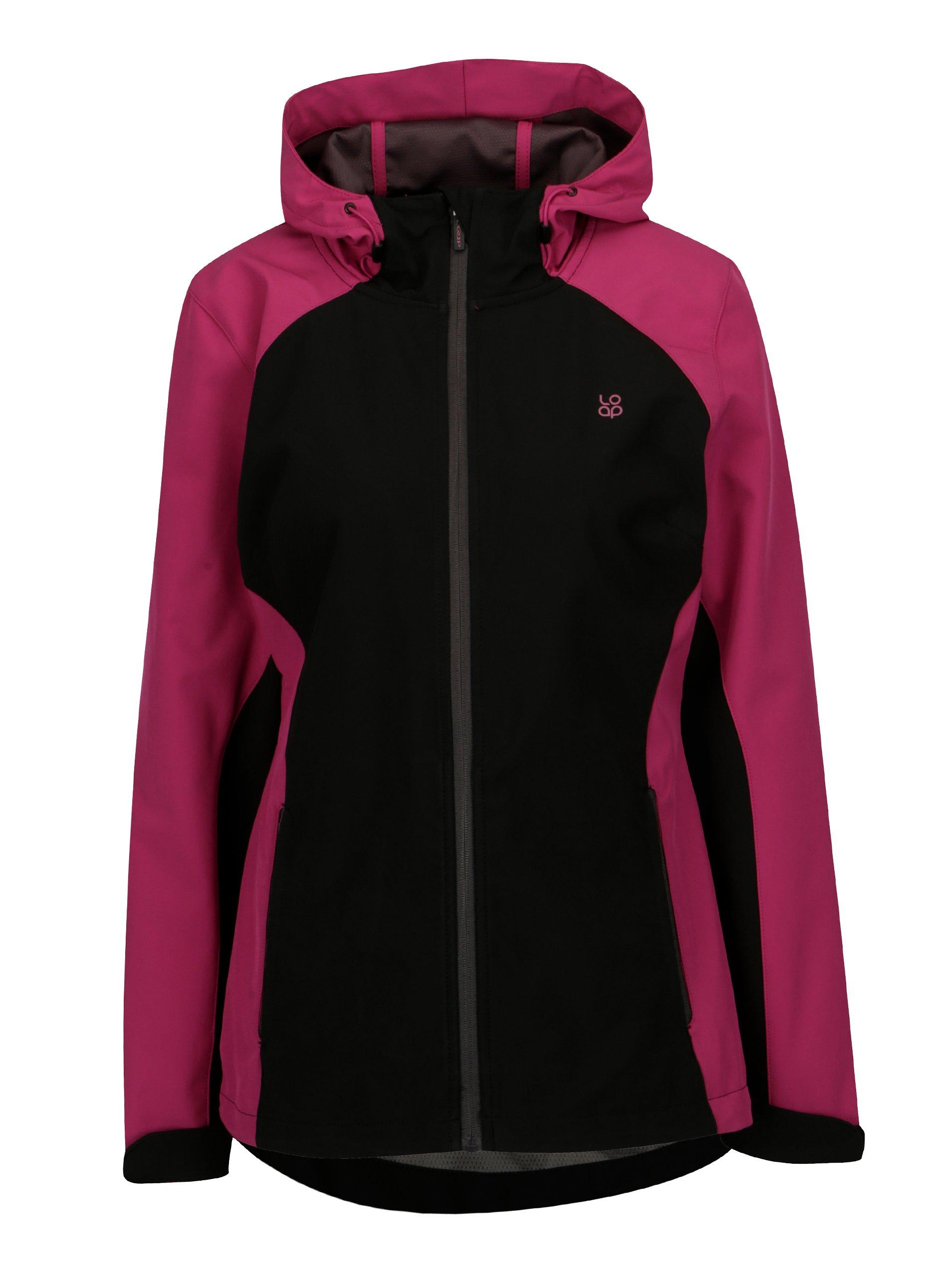 f381b14b7aac Čierno-ružová dámska softshellová bunda LOAP Libbi