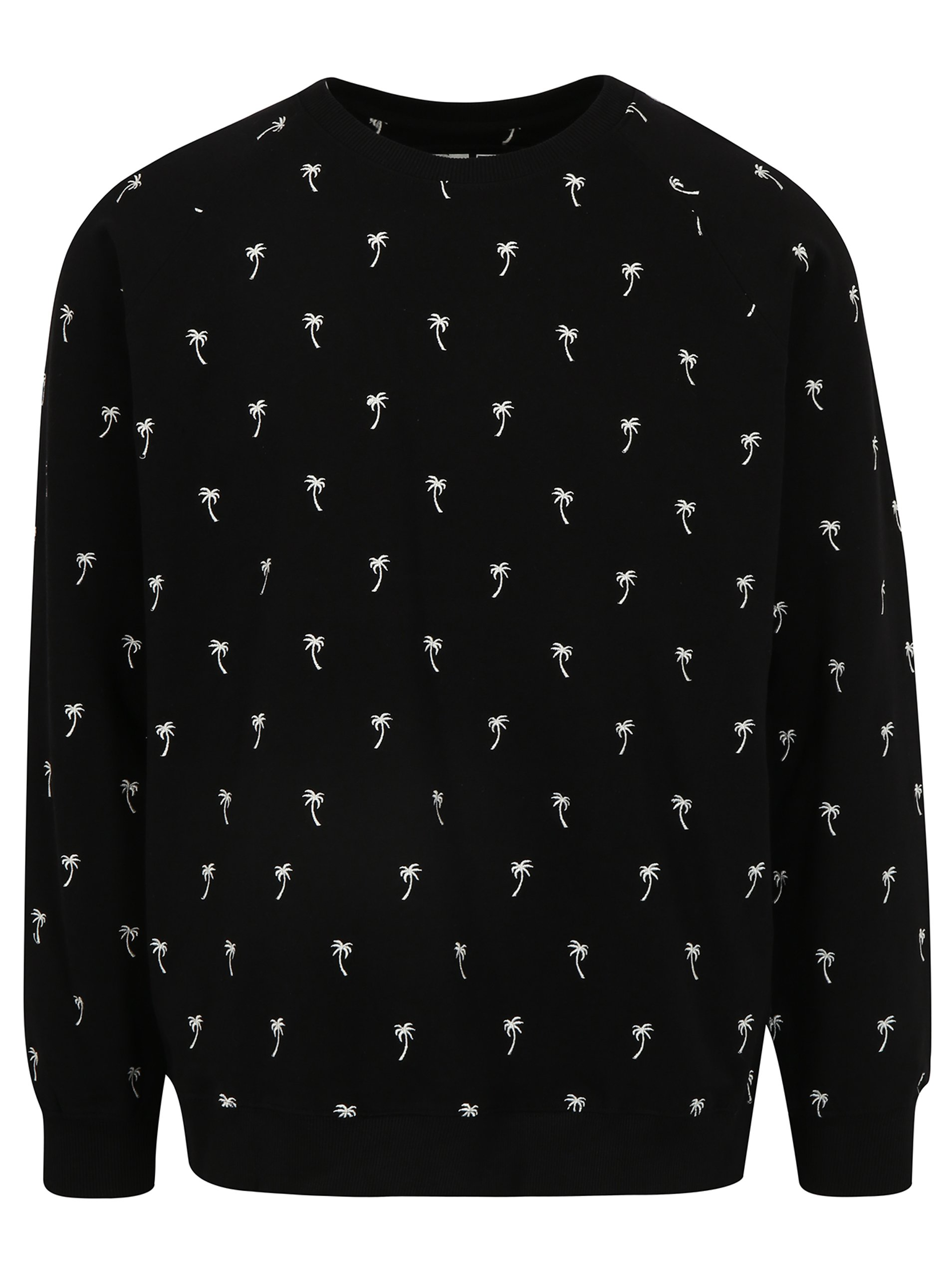 Čierna mikina s výšivkou Dedicated Ditsy Palms