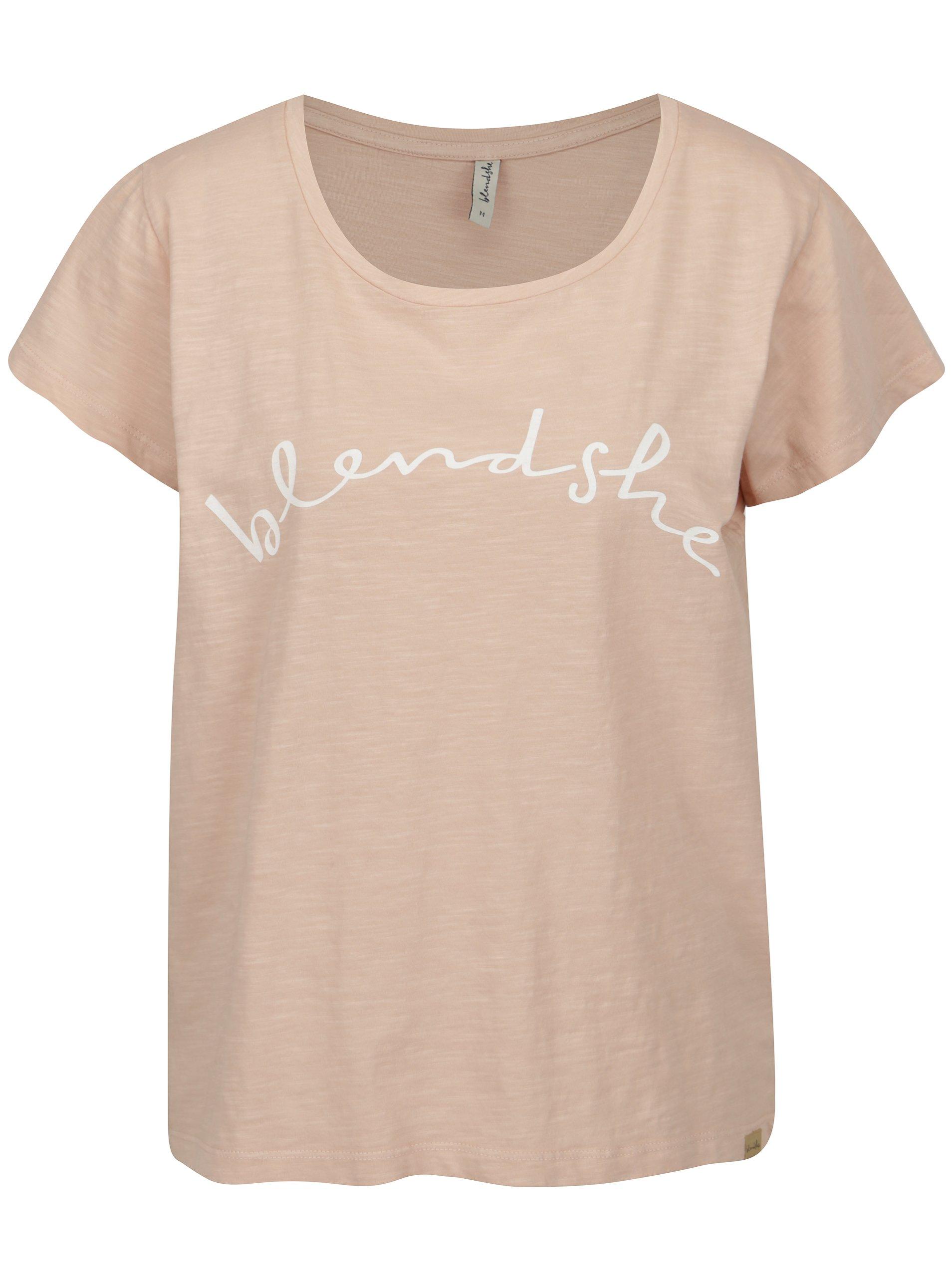 Světle růžové tričko s potiskem Blendshe Cute 847b976e77