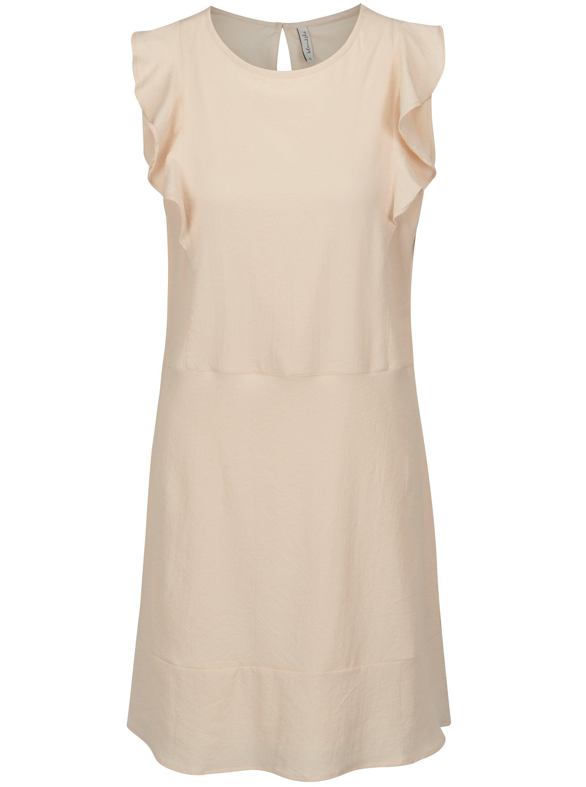 Světle růžové šaty s volány Blendshe Sury