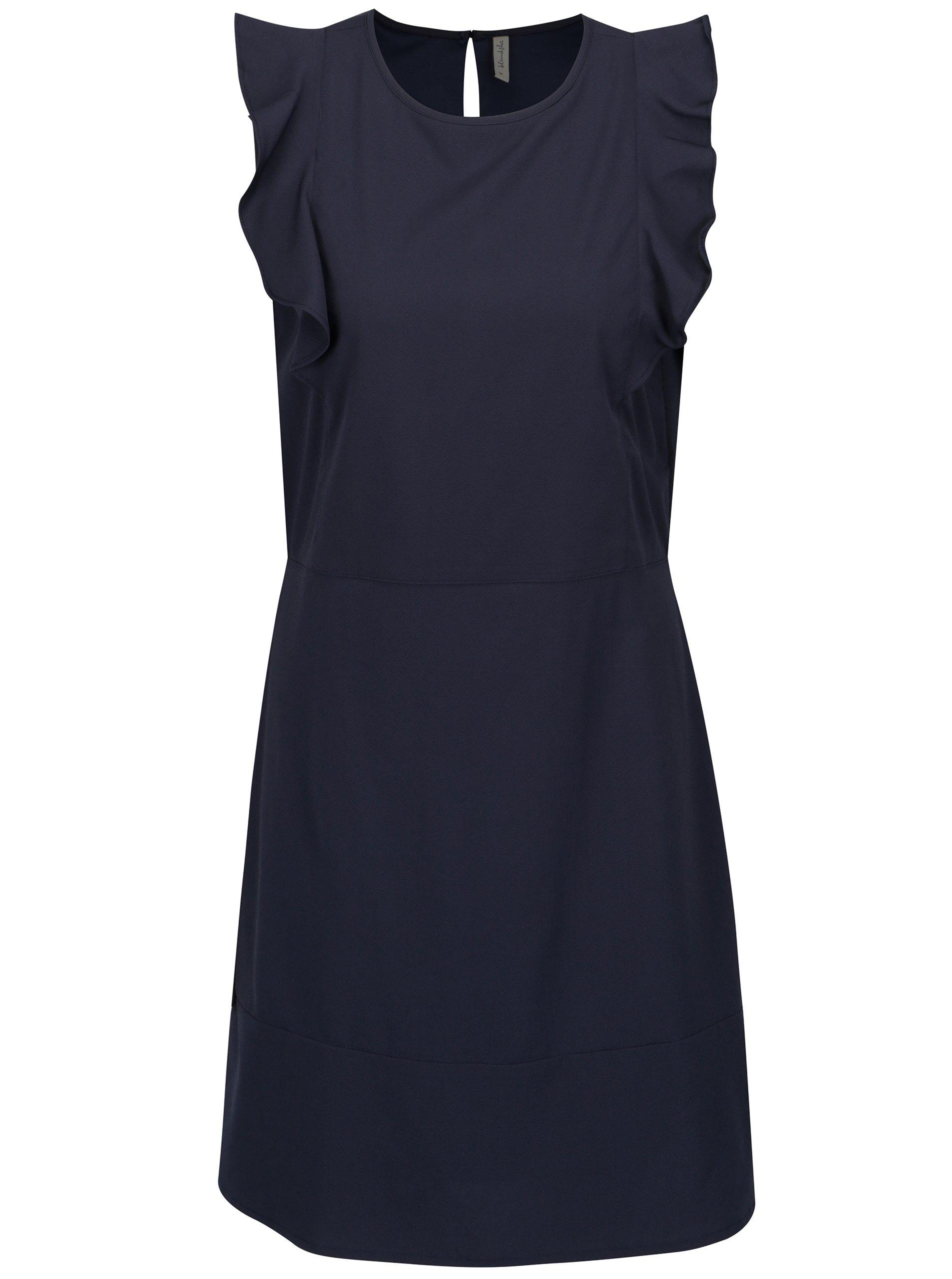 Tmavě modré šaty s volány Blendshe Sury
