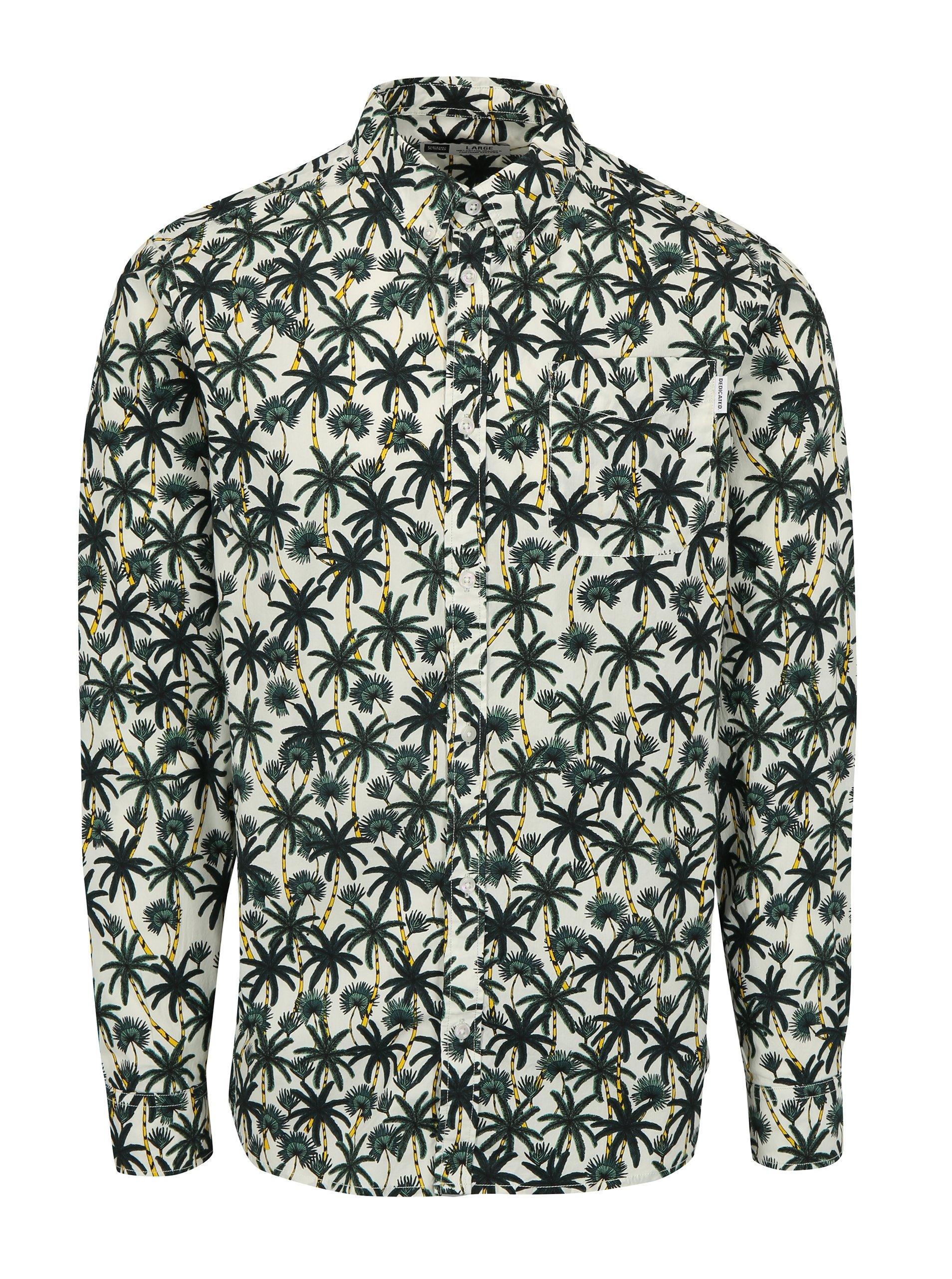 Zeleno-krémová košeľa s palmami Dedicated Beach Palms