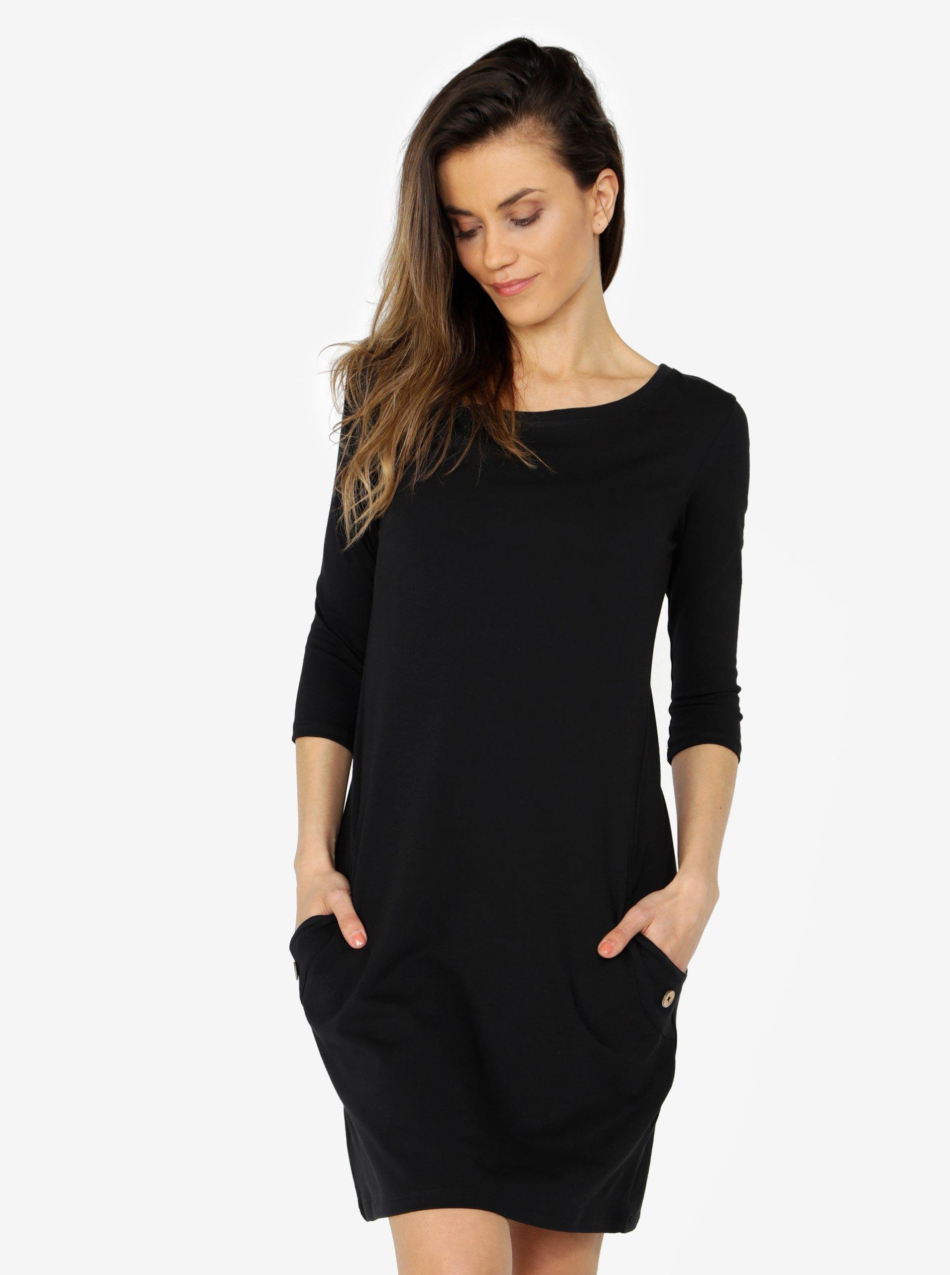 f83e642f796c Černé šaty s kapsami ZOOT