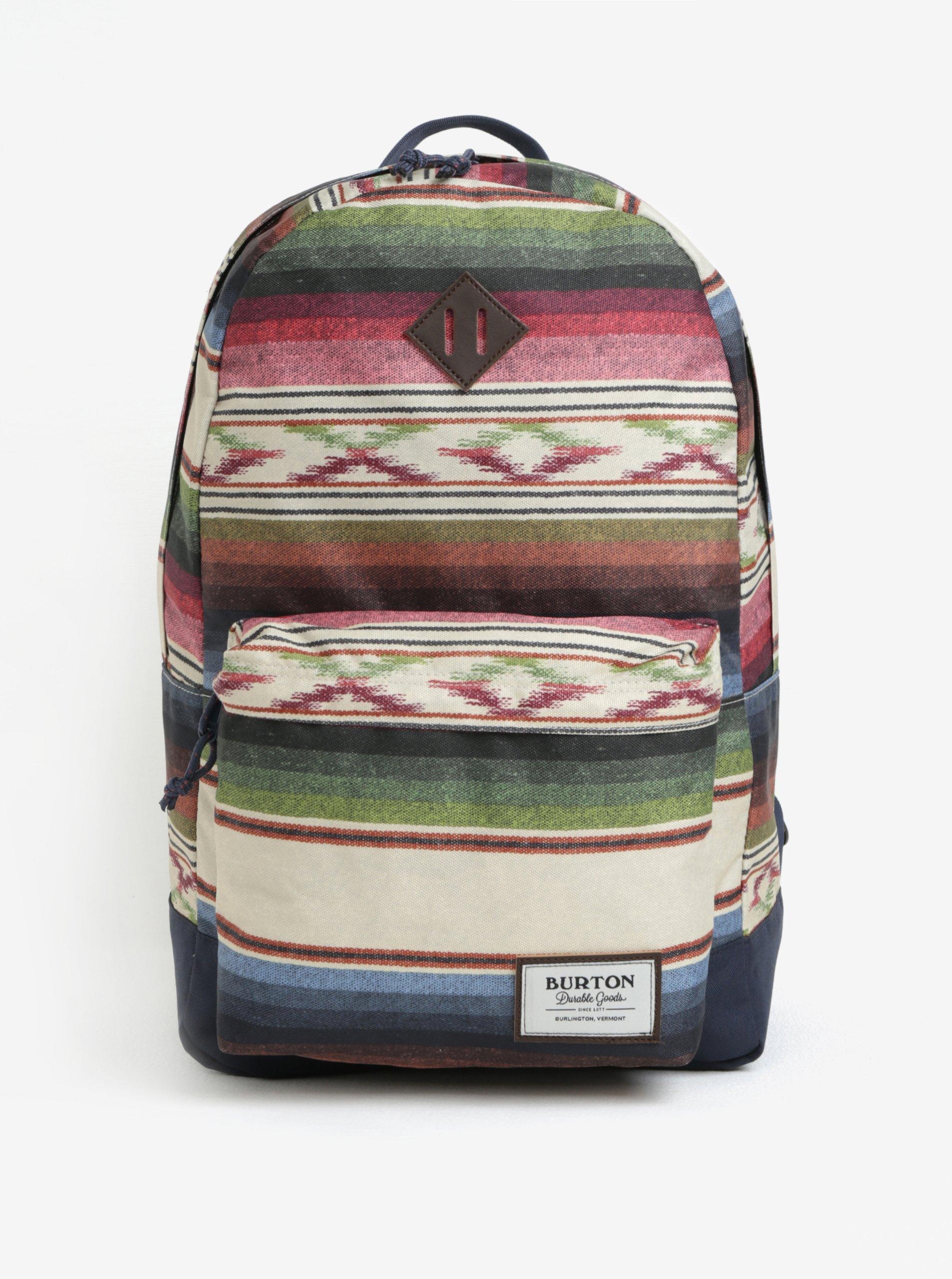 Zeleno-béžový dámský pruhovaný batoh Burton Kettle 20 l
