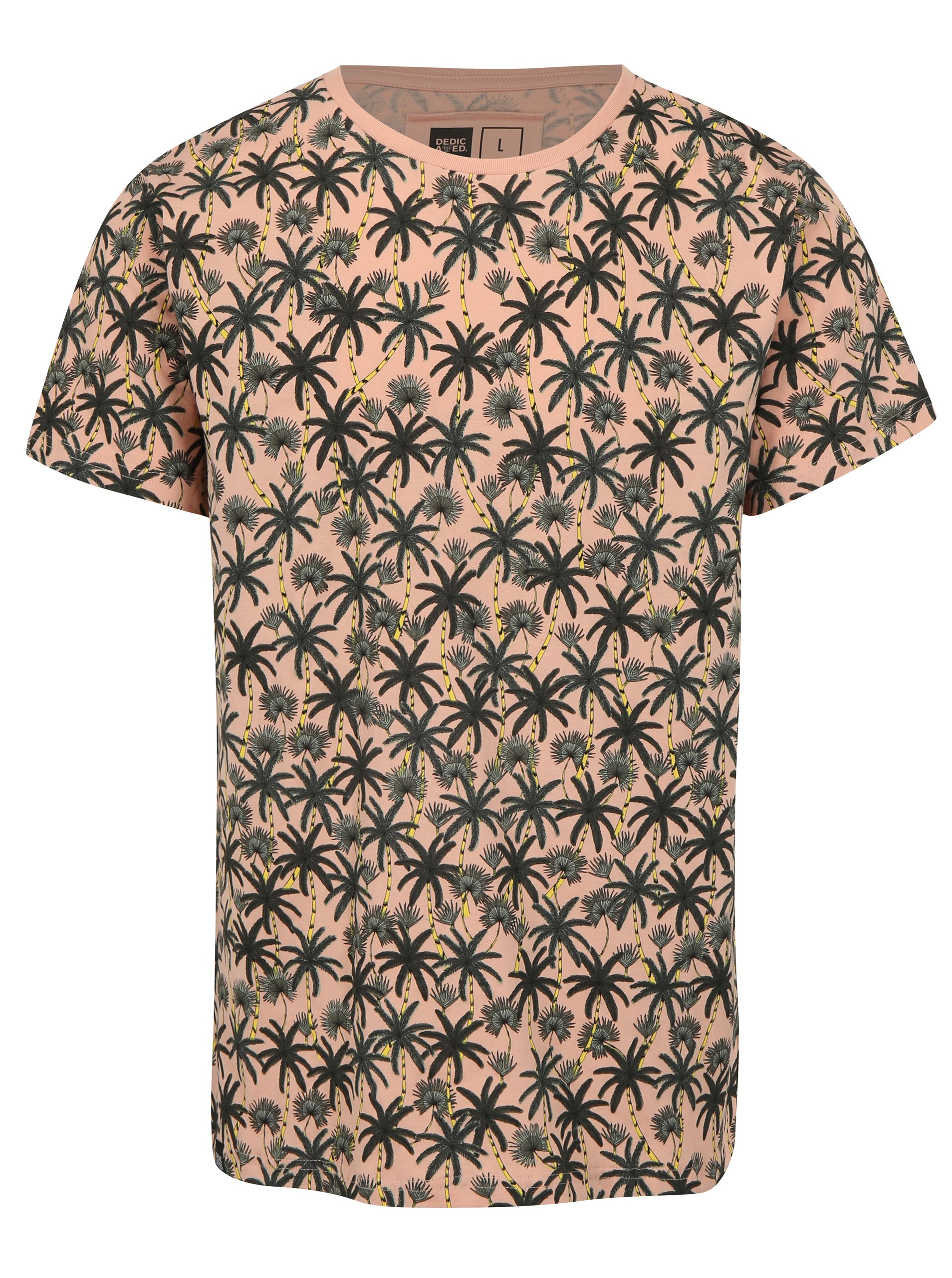 1f5f6e17b3 Ružové tričko s palmami Dedicated Beach Palms
