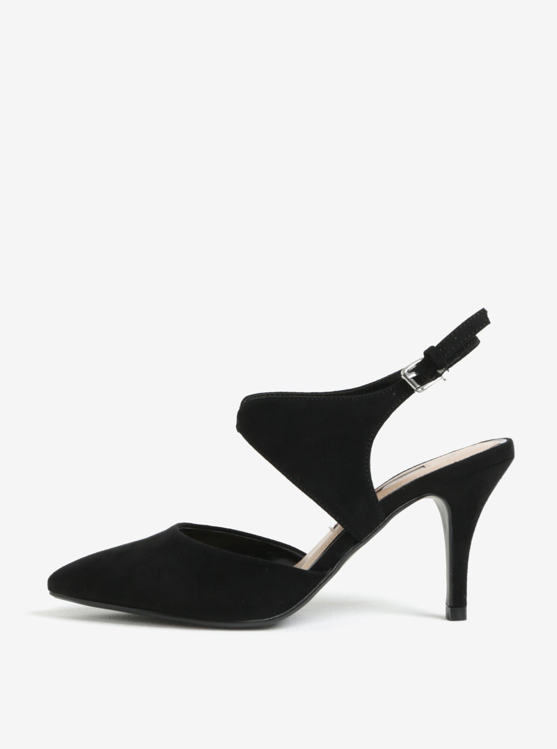 0aa93eeafa839 Čierne sandálky v semišovej úprave Dorothy Perkins