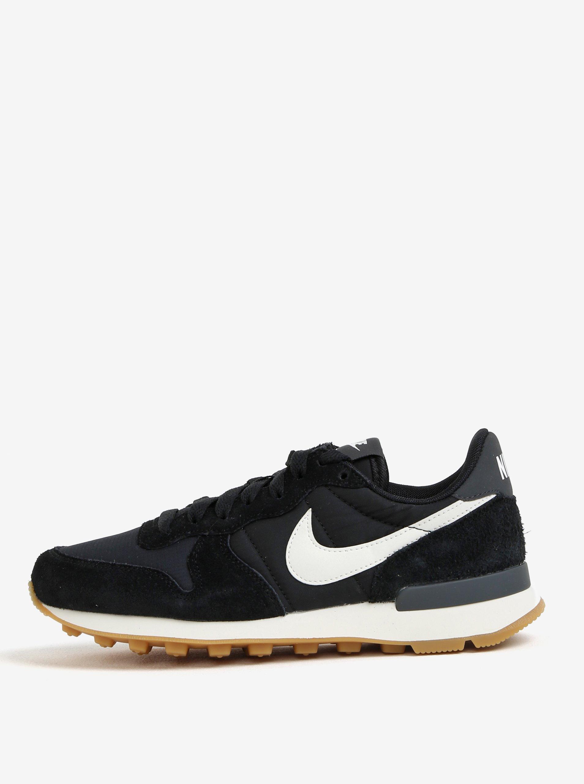 3b927b0fb04e Bielo-čierne dámske tenisky so semišovými detailmi Nike Internationalist