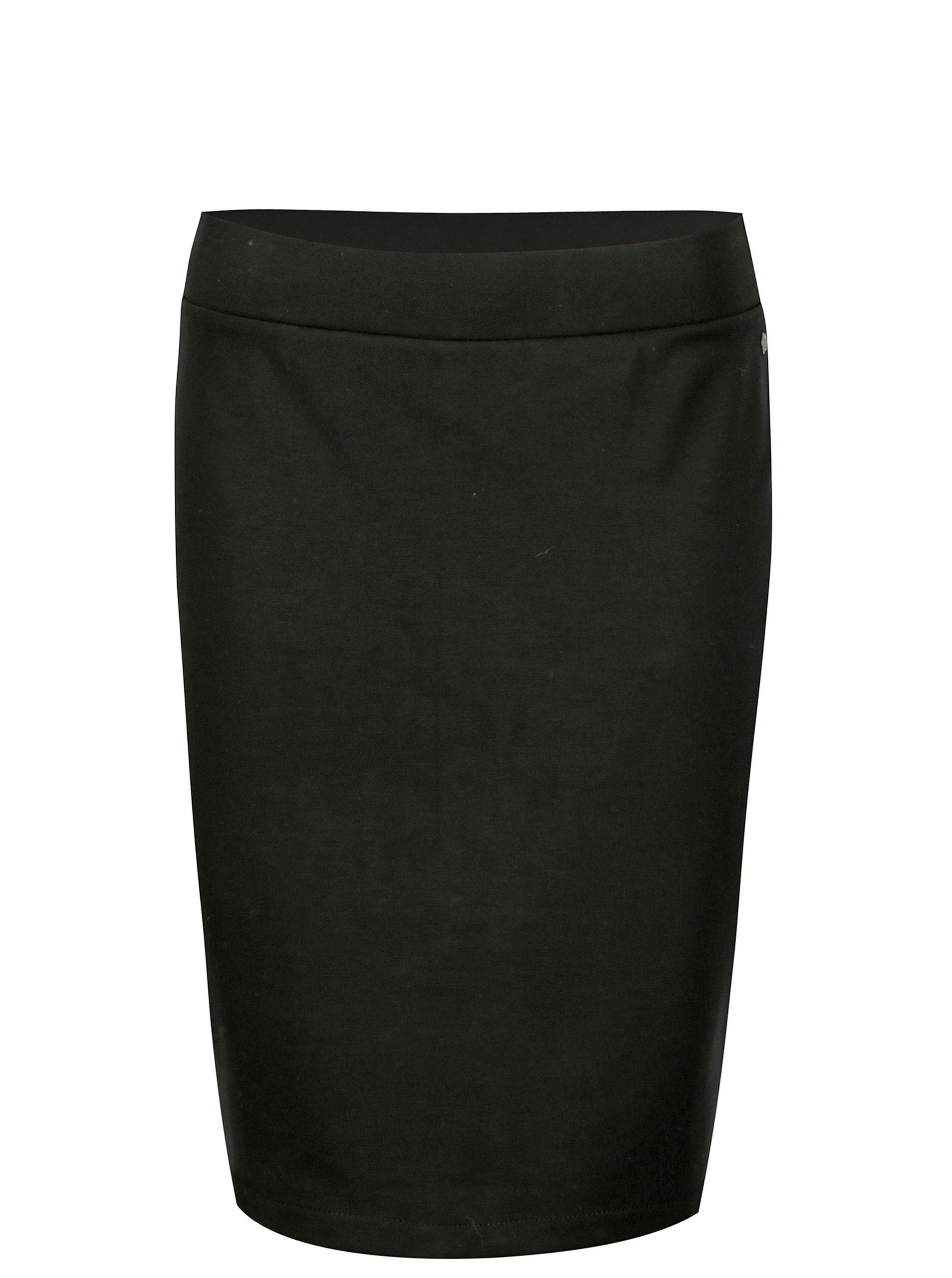 Černá pouzdrová sukně Garcia Jeans Lisanna