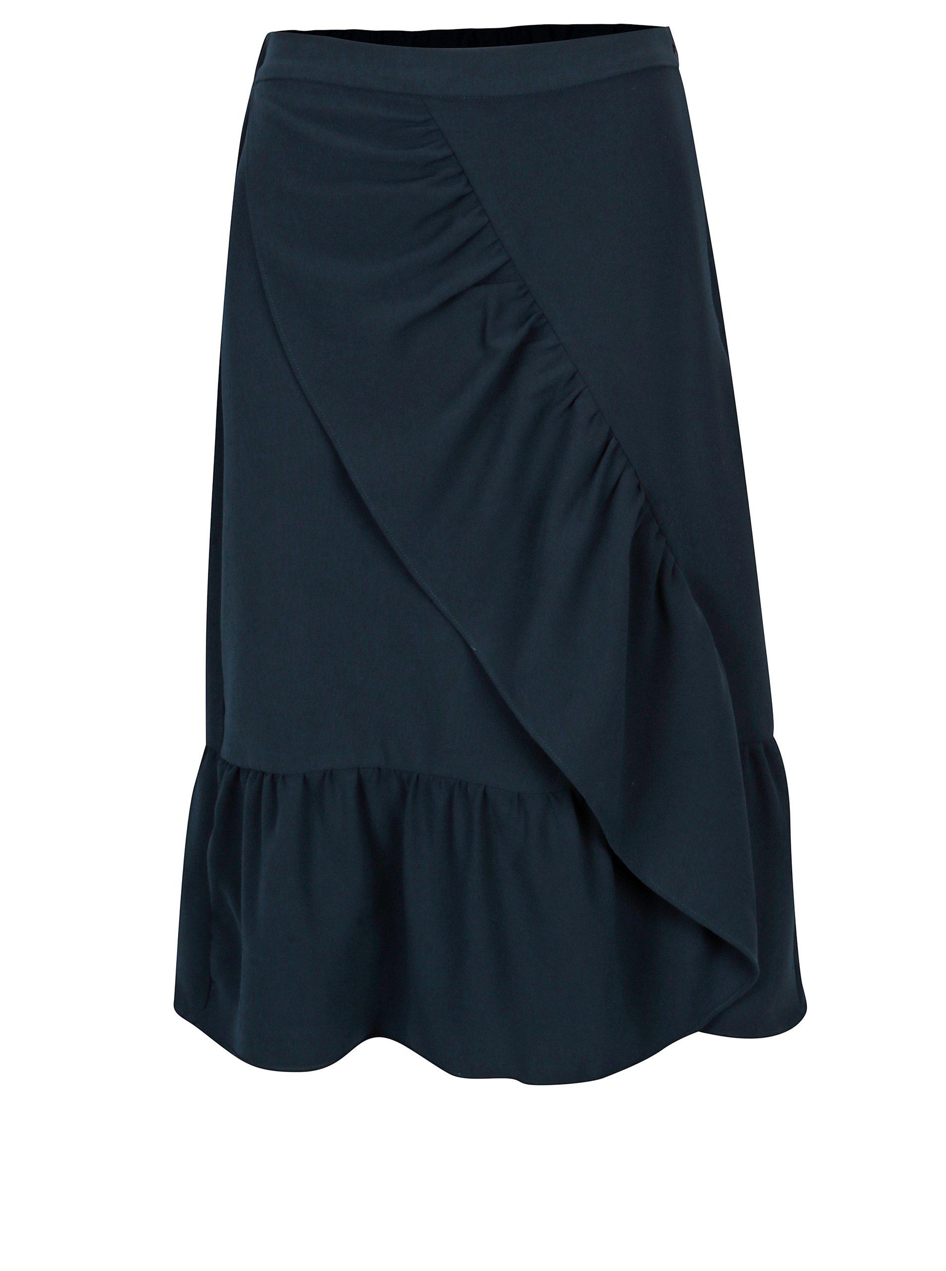 e50dbe4d6a8 Tmavě modrá sukně s volány VILA Geya