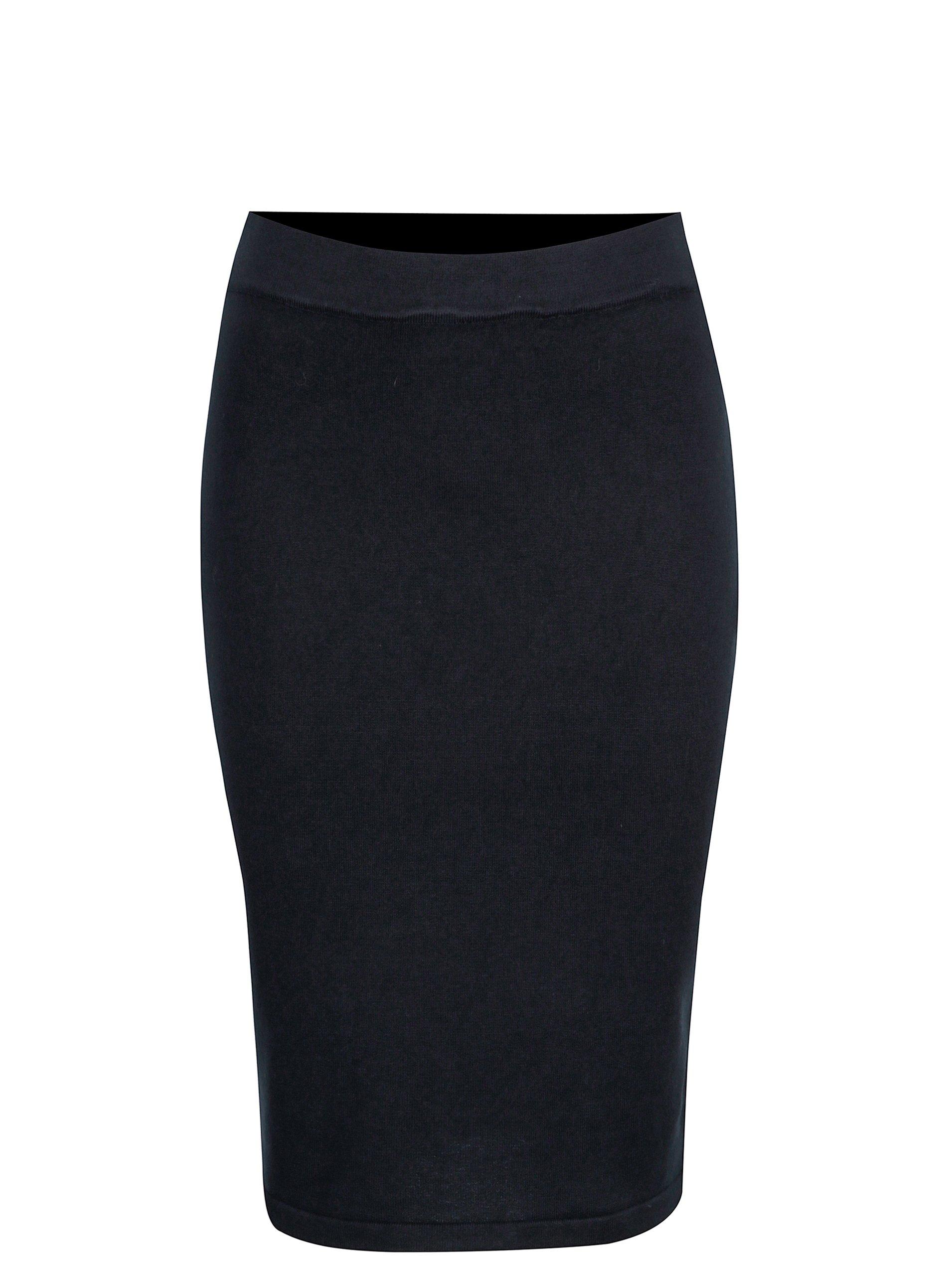 Tmavomodrá puzdrová sukňa VILA Gema