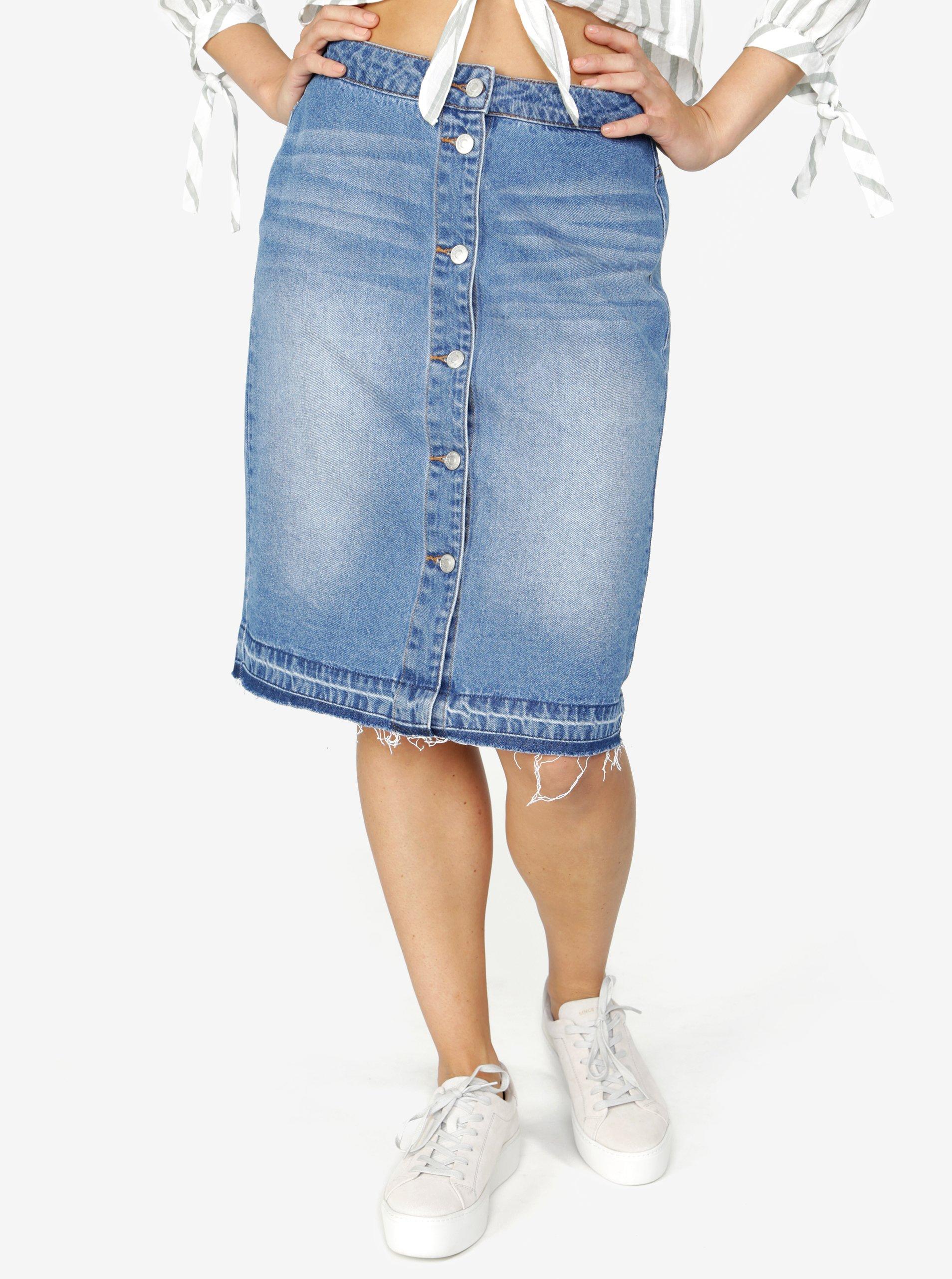 Modrá džínová sukně Jacqueline de Yong Peace 927e848169