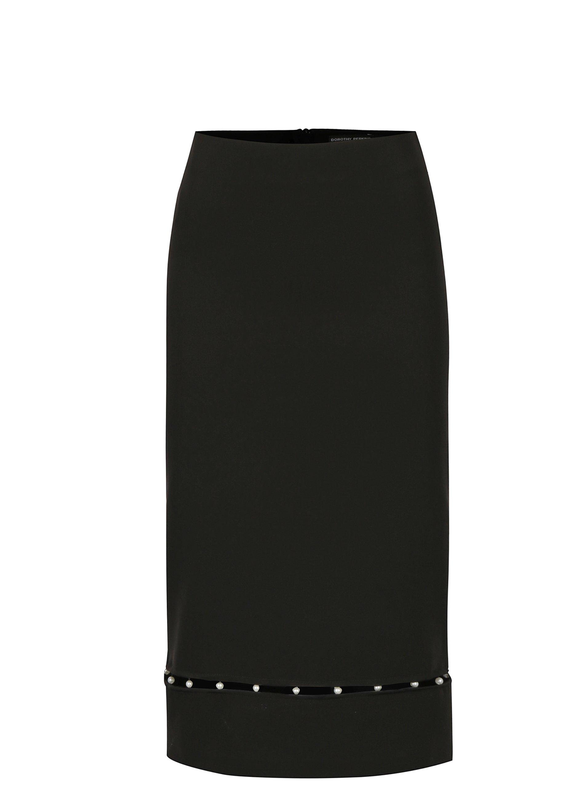 Čierna sukňa s korálkami Dorothy Perkins