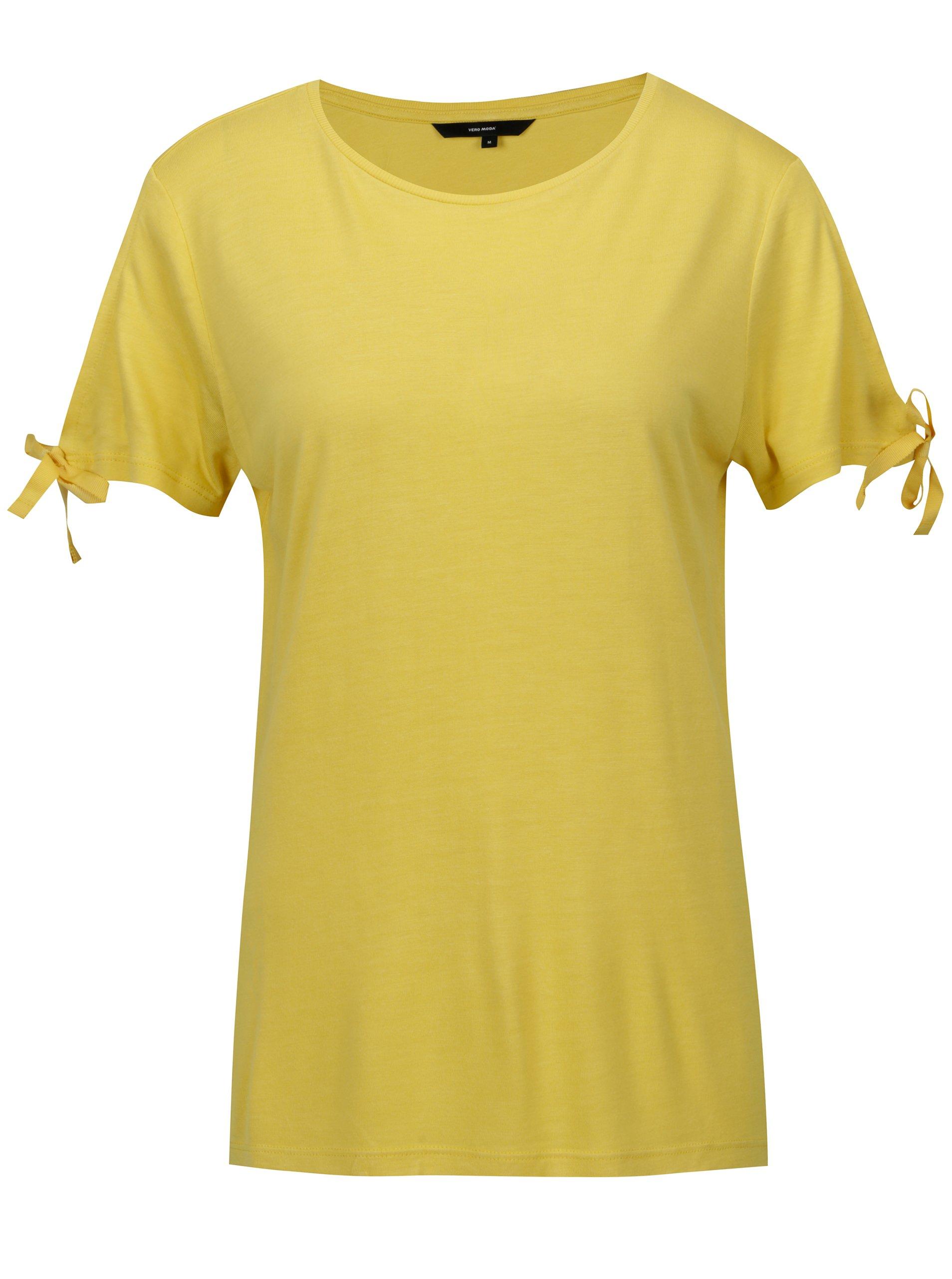 Žluté tričko VERO MODA Jemia