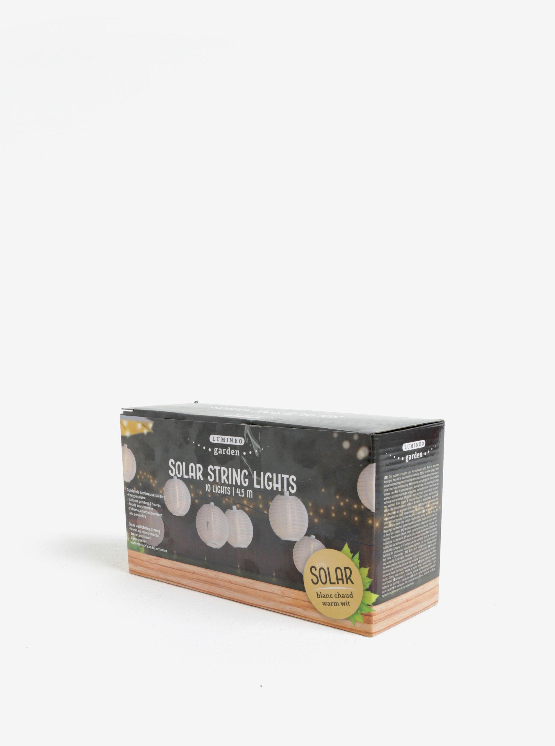 Bílá LED solární dekorace Kaemingk