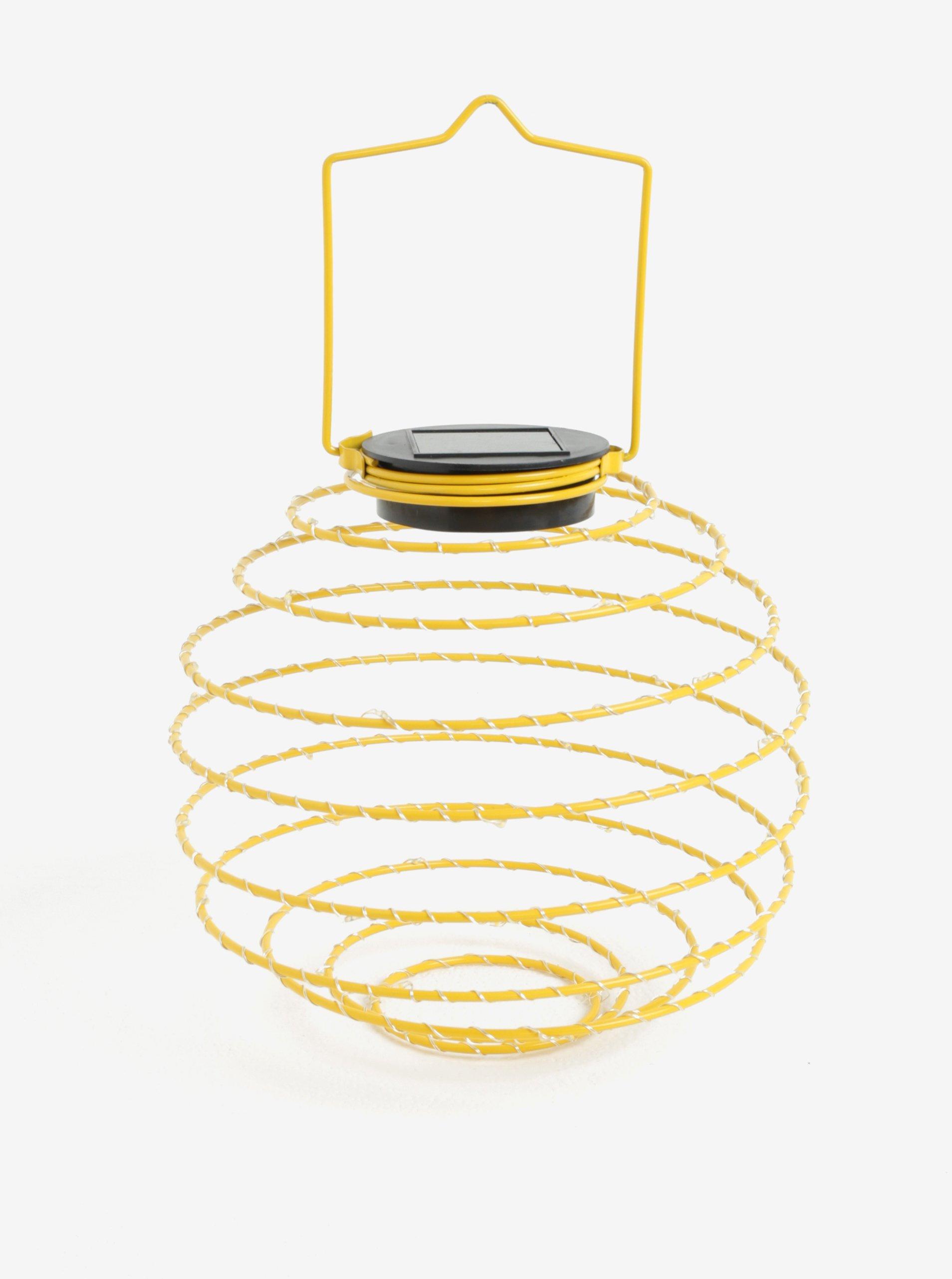 Žlutá LED solární dekorace Kaemingk