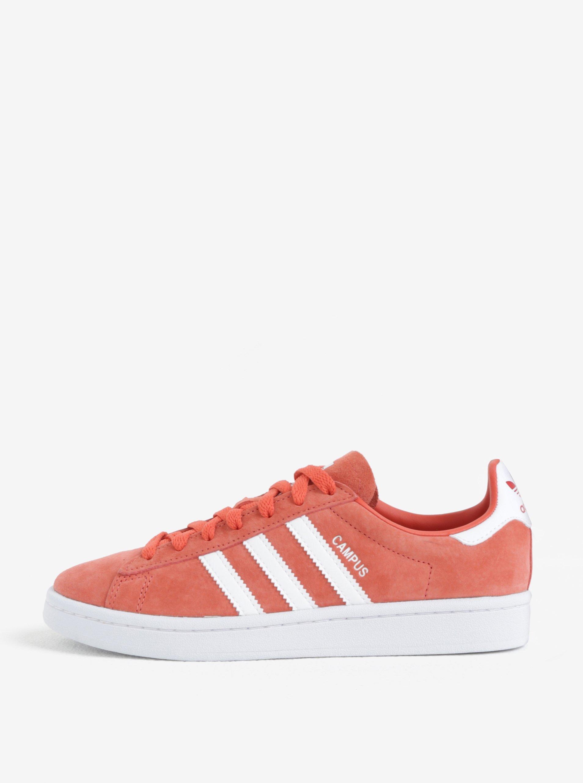 Korálové dámské semišové tenisky adidas Originals Campus 5a0843c283d