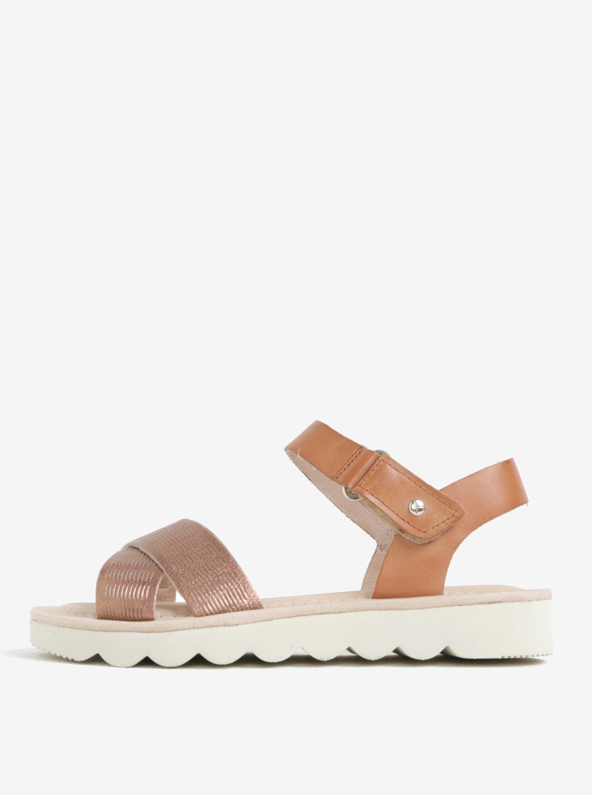 Světle hnědé kožené sandály Pikolinos Valencia