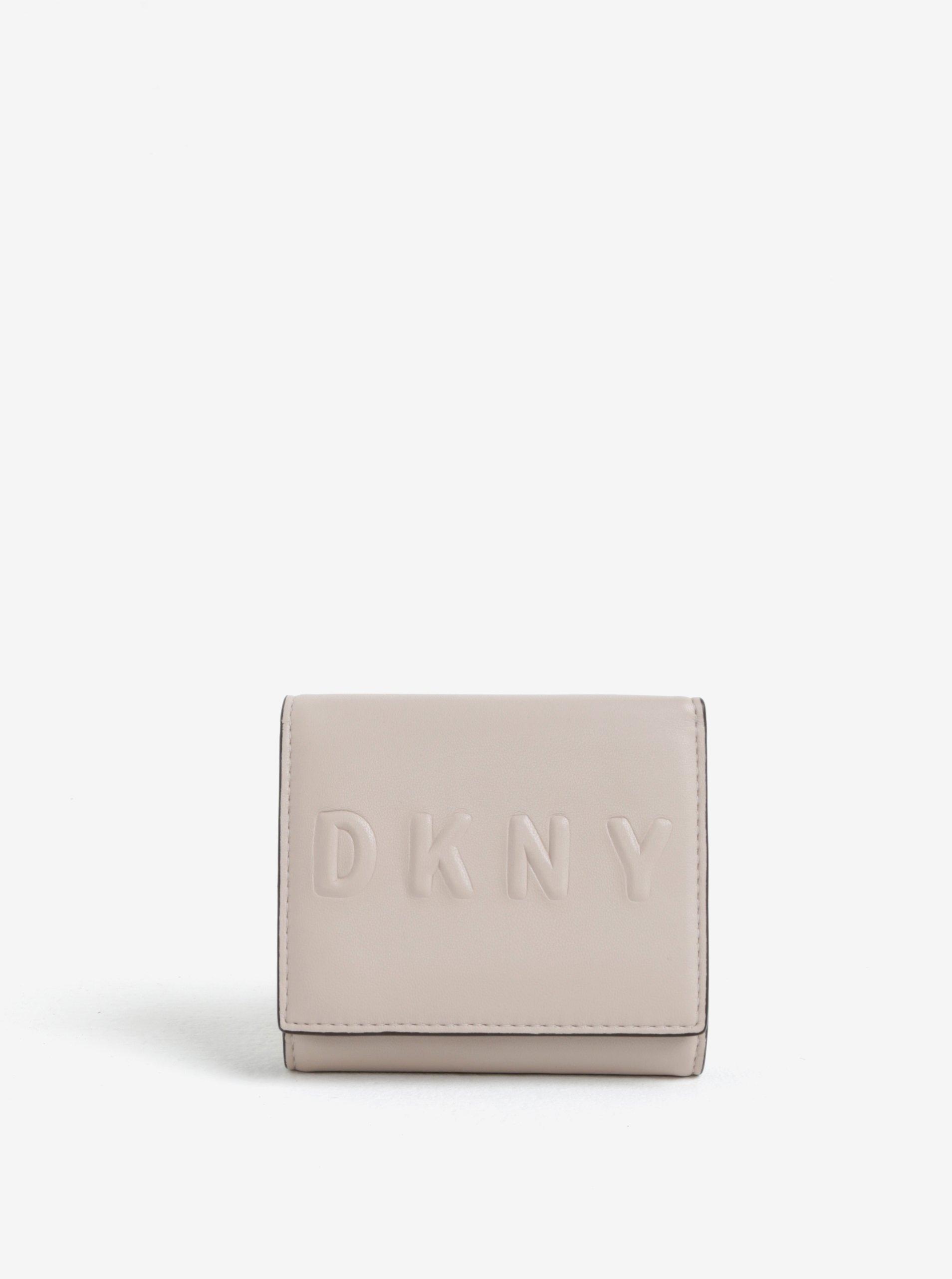 Béžová malá peněženka DKNY Trifold