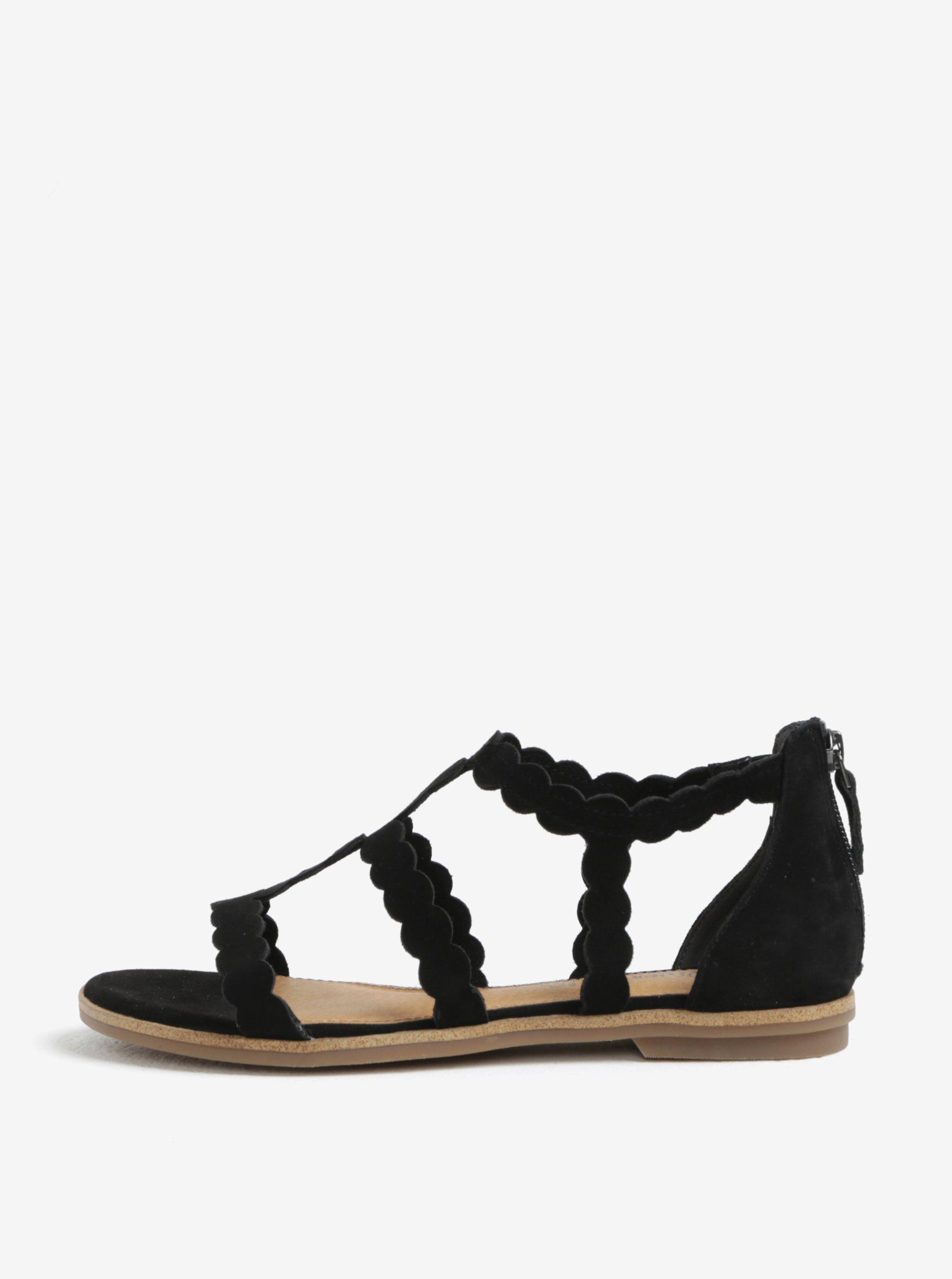 2b7fc26a35e5 Čierne dámske semišové sandále s.Oliver