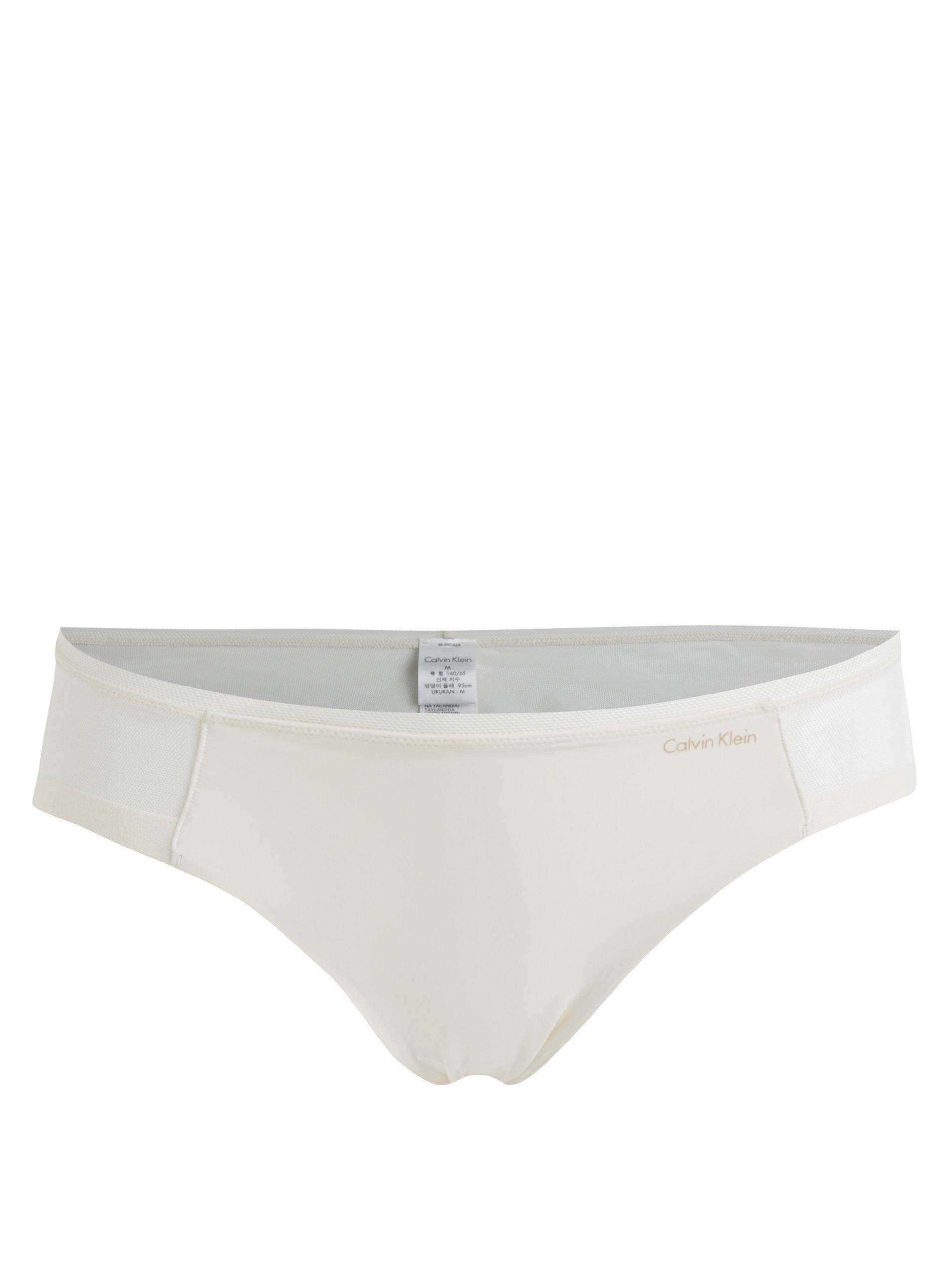Krémové kalhotky s průsvitnými detaily Calvin Klein