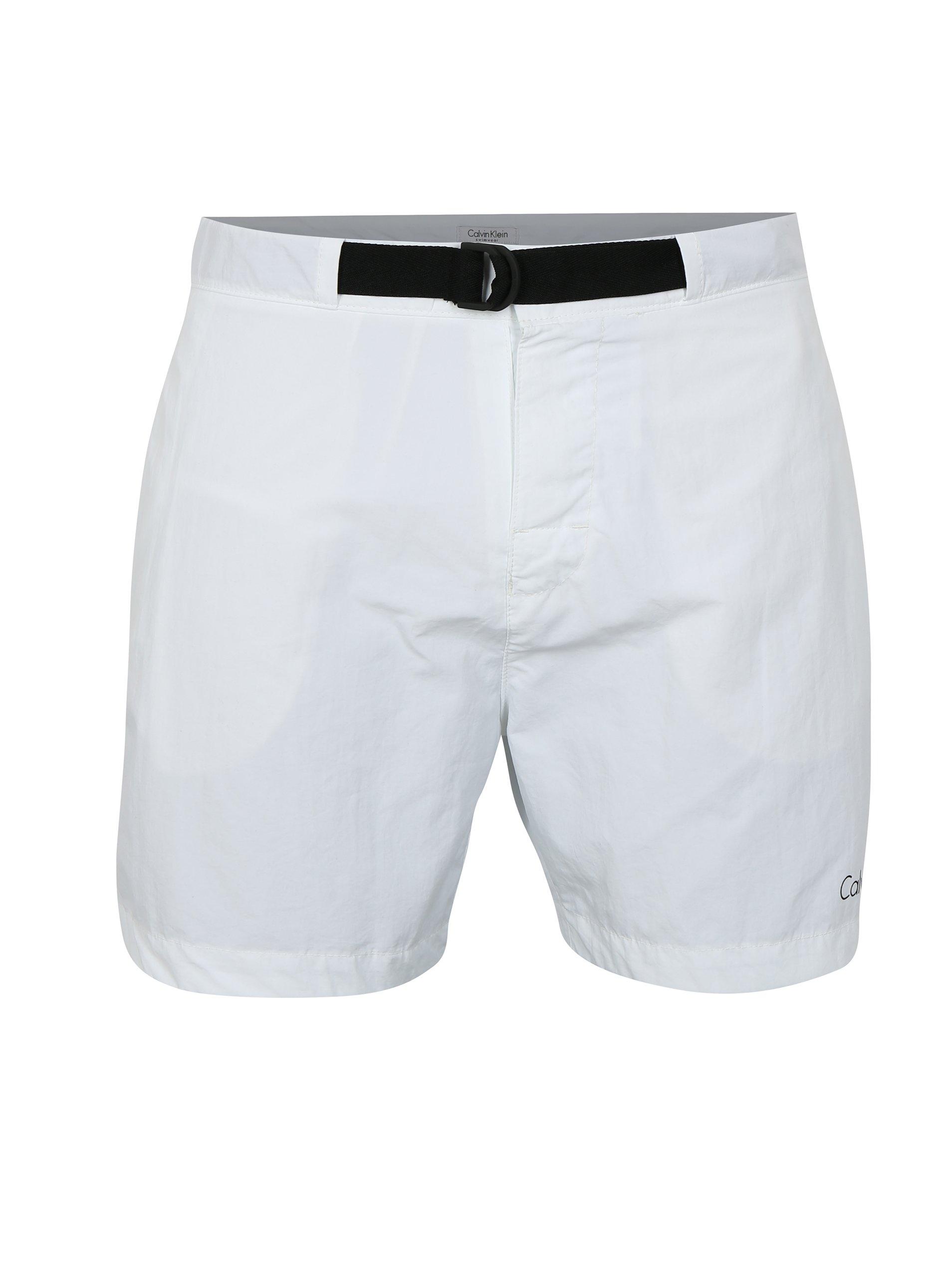 Bílé pánské plavky Calvin Klein