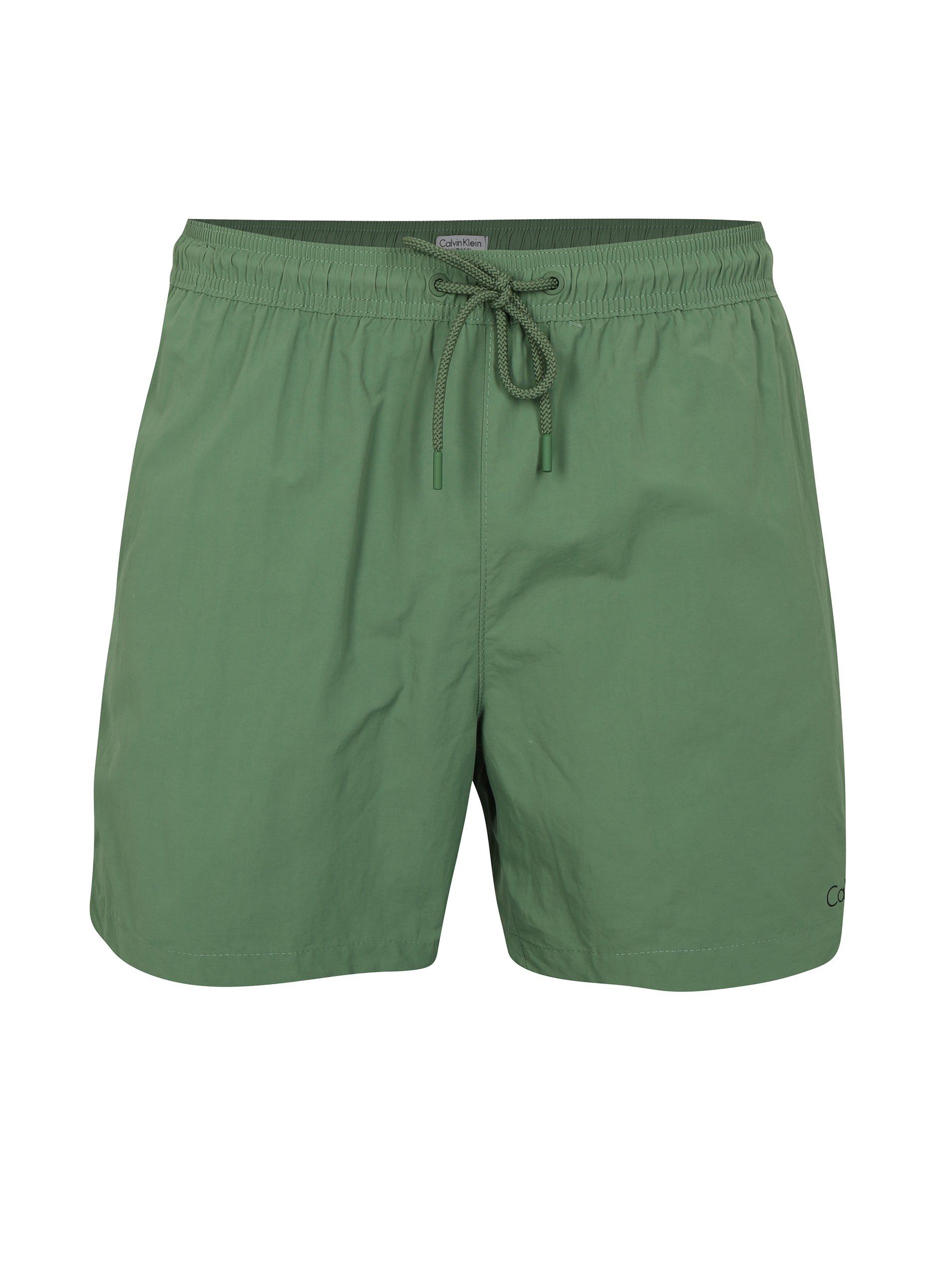 86e53d310edb Zelené pánske plavky Calvin Klein