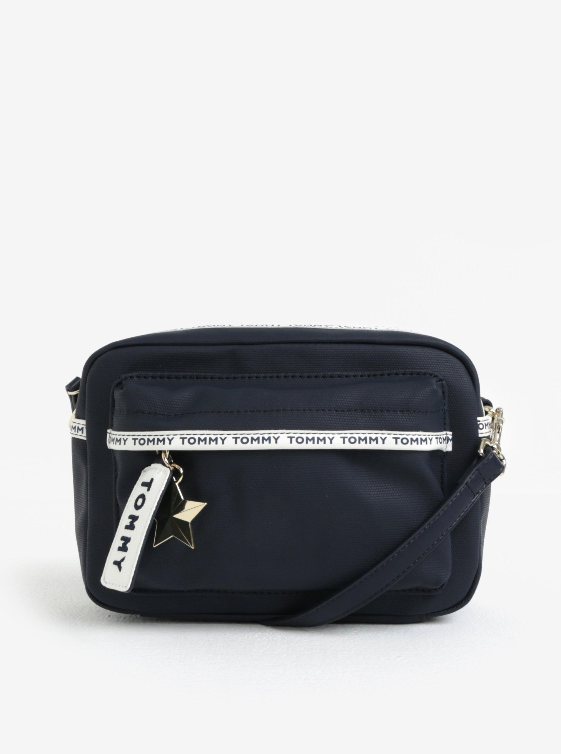 Tmavě modrá crossbody kabelka s hvězdou Tommy Hilfiger