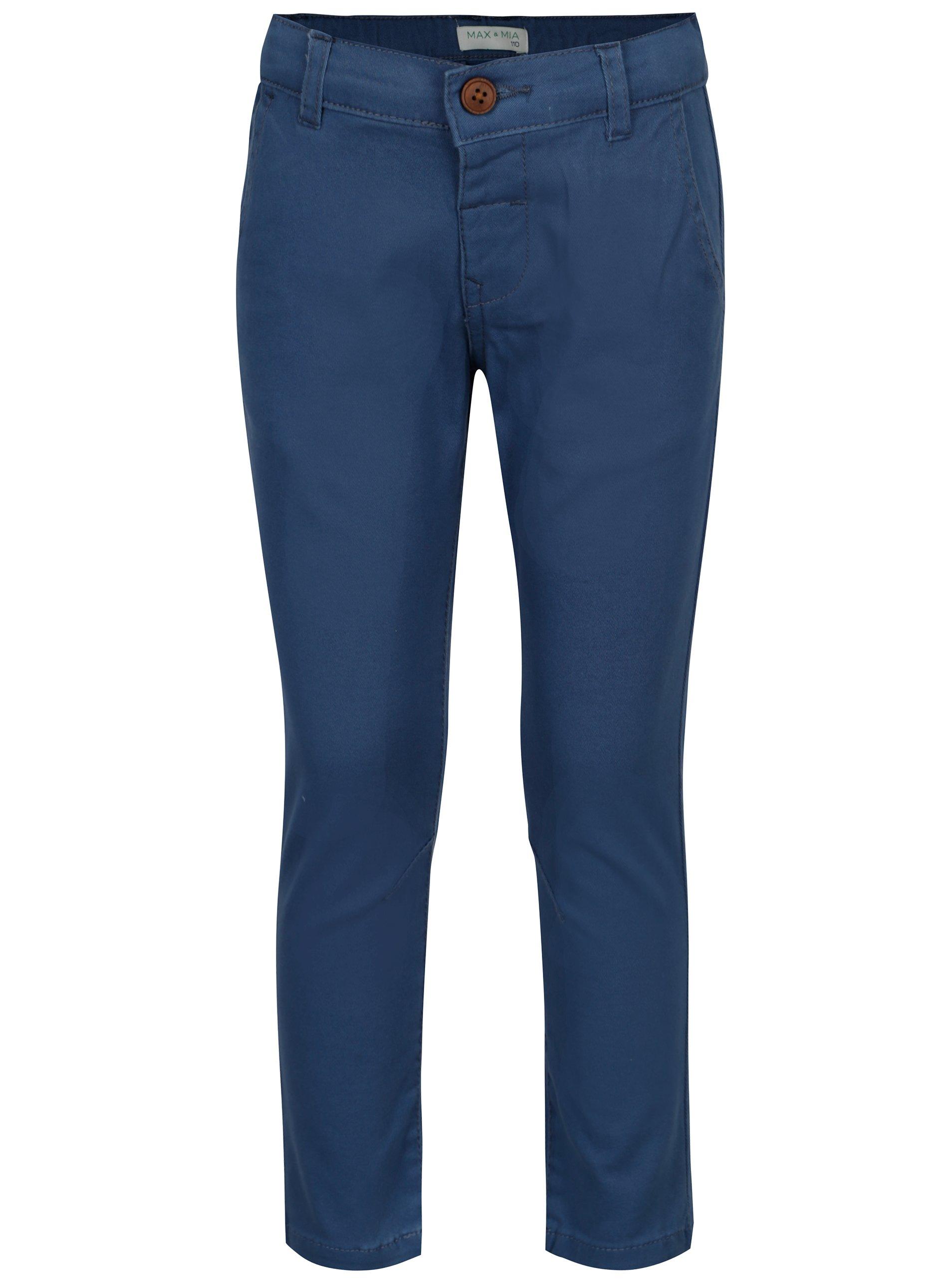 Modré chlapčenské regular chino nohavice 5.10.15.
