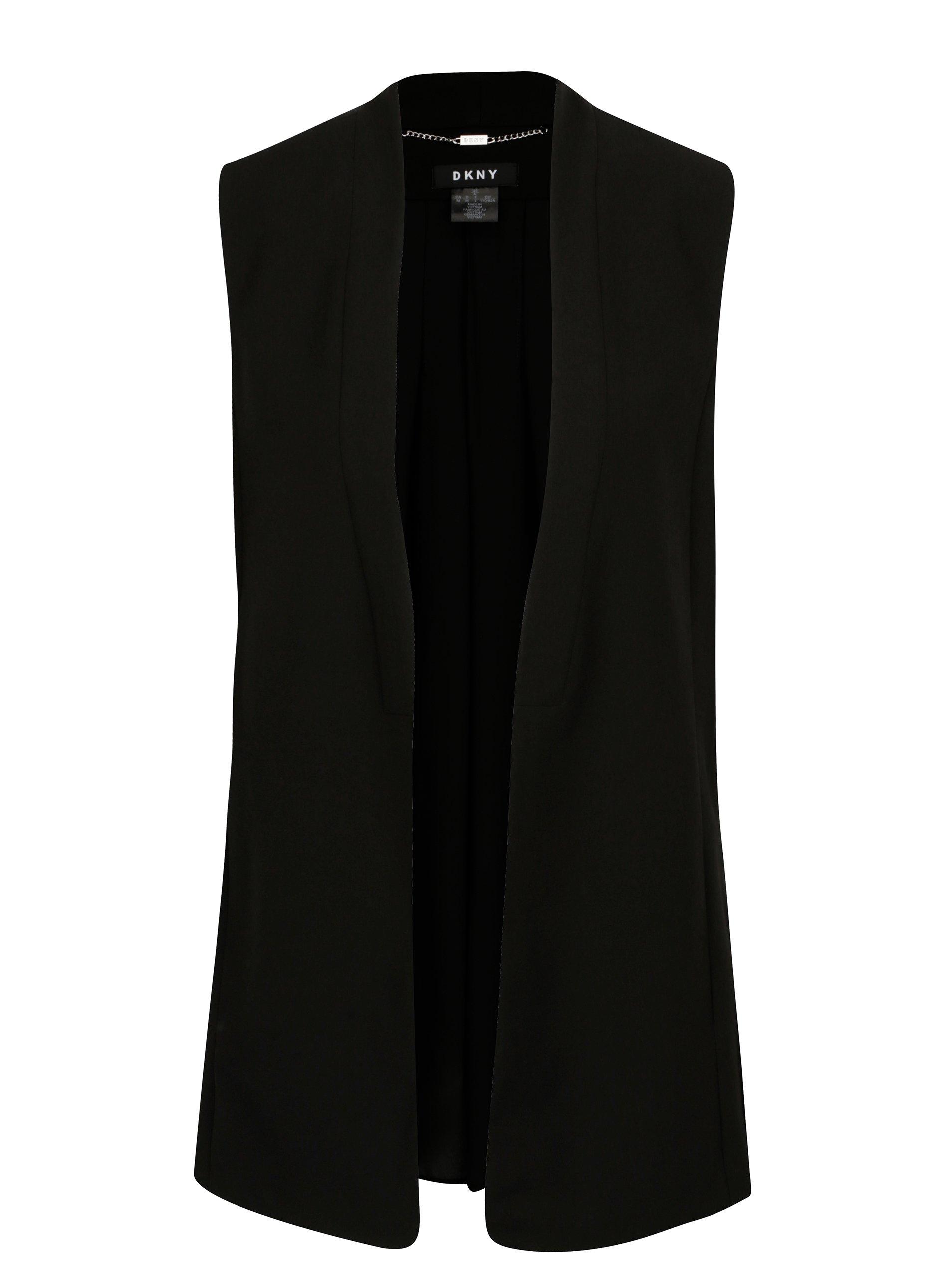 Černá vesta DKNY