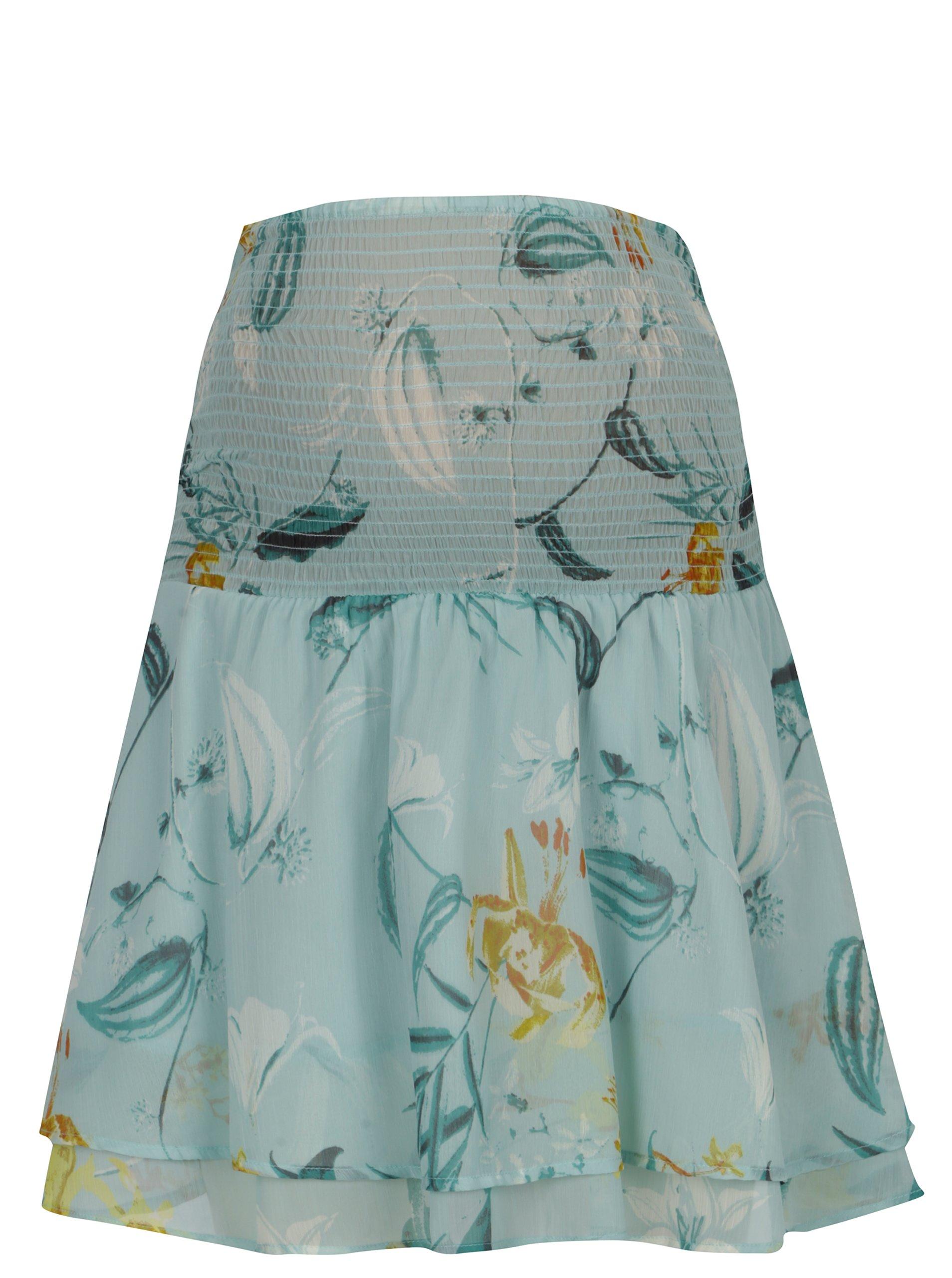 Světle zelená těhotenská květovaná sukně Mama.licious Lemonade