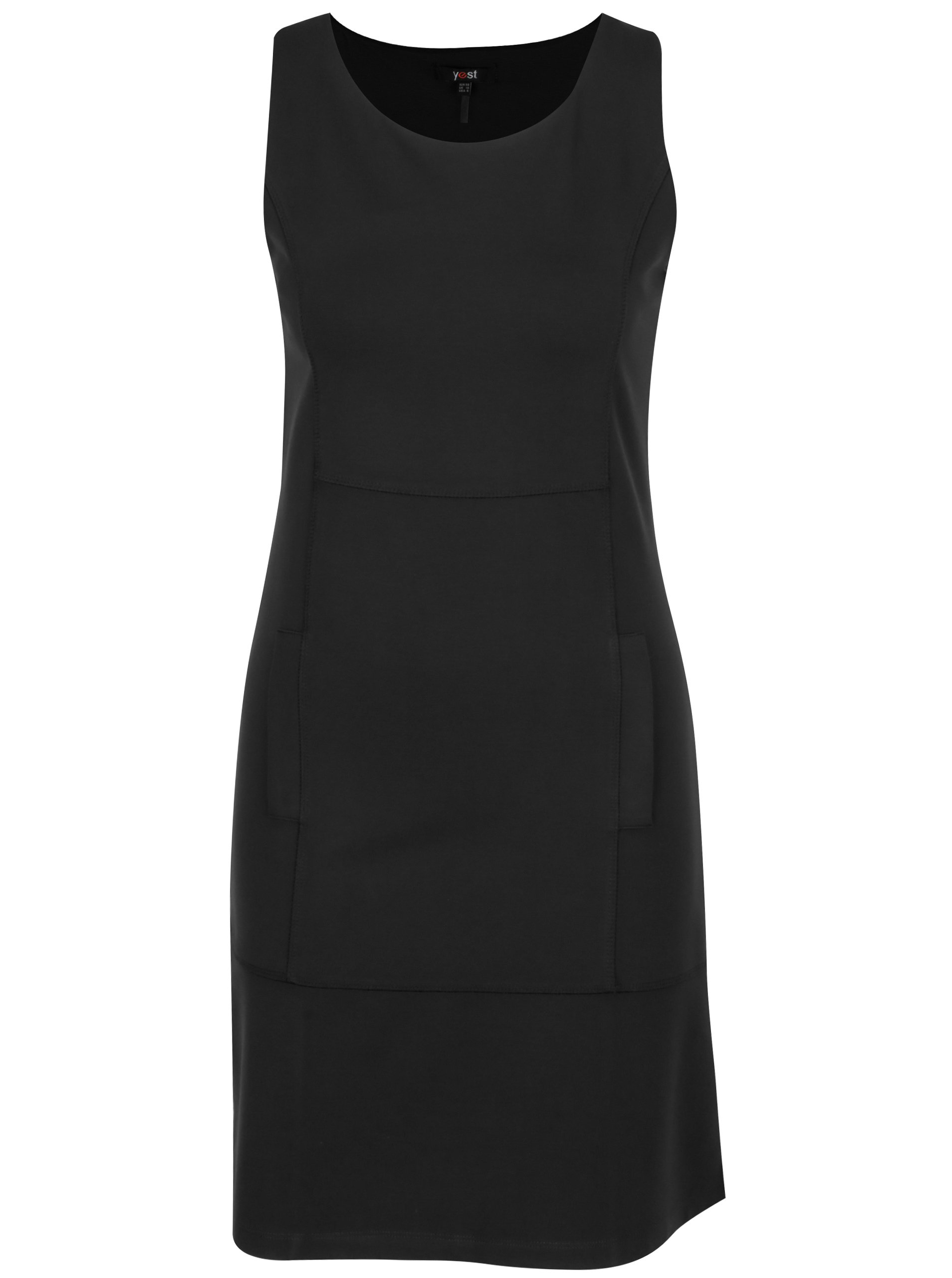 Černé šaty bez rukávu Yest
