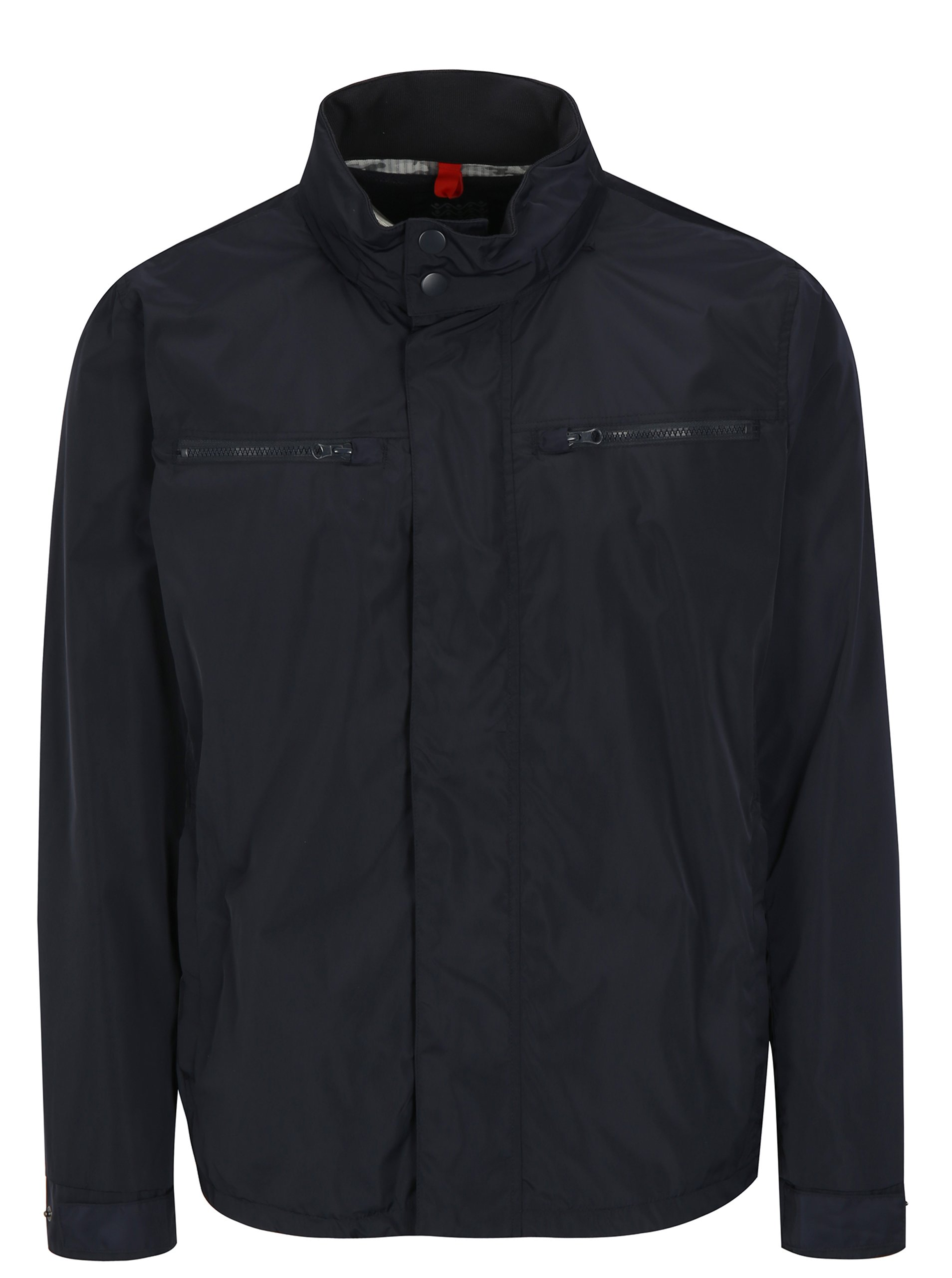 Fotografie Modrá pánská bunda s kapucí Geox