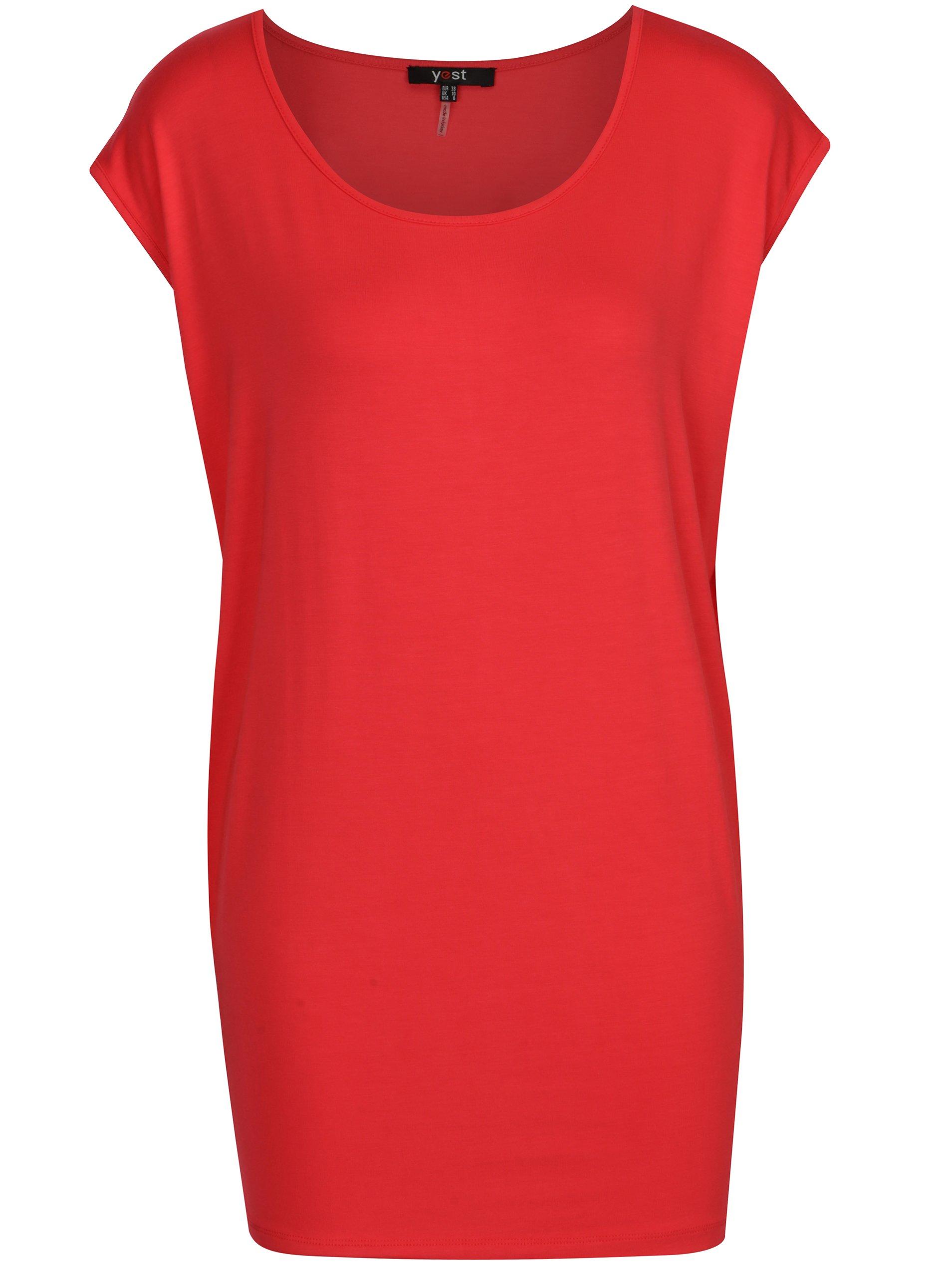 Červené voľné tričko Yest
