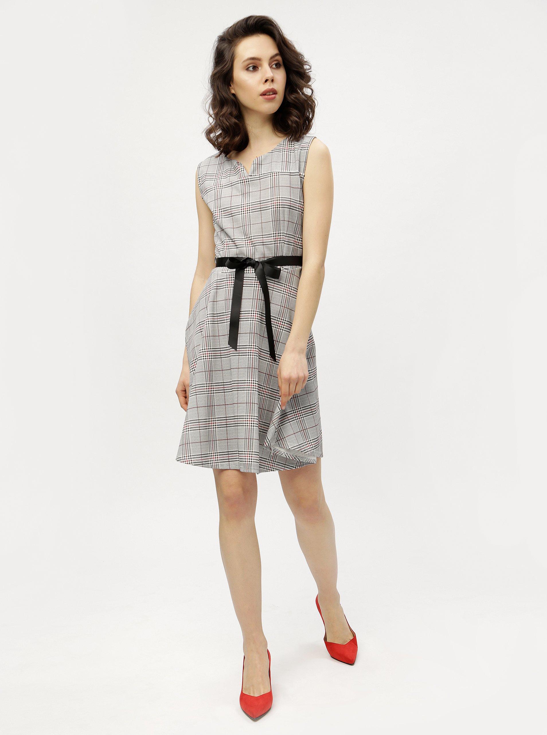 Sivé kárované šaty Haily s Charlotte 60de848b4ab