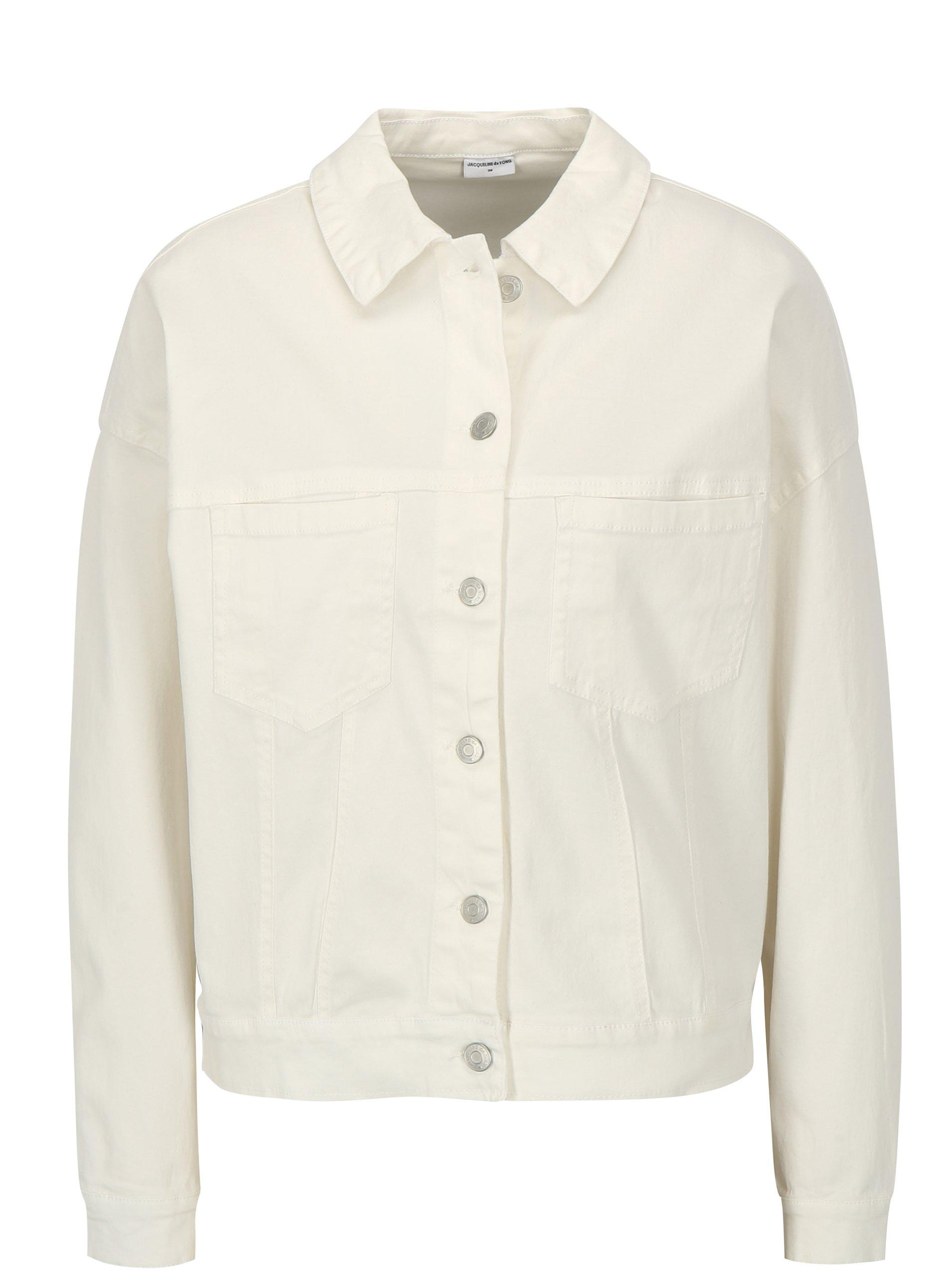 Bílá džínová bunda Jacqueline de Yong Cate Loose