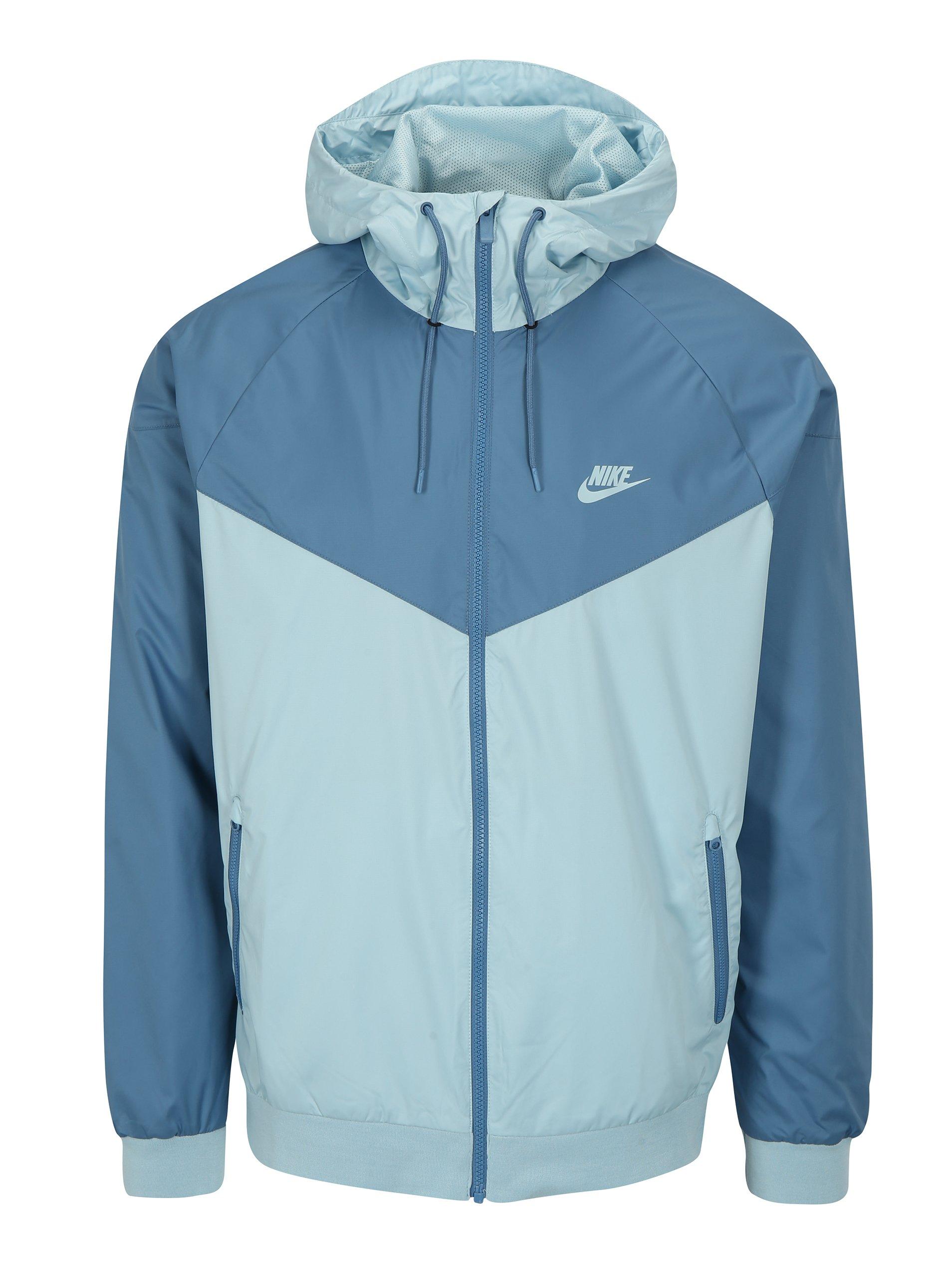 Svetlomodrá pánska funkčná bunda s kapucňou Nike 1e2a75bf1ef