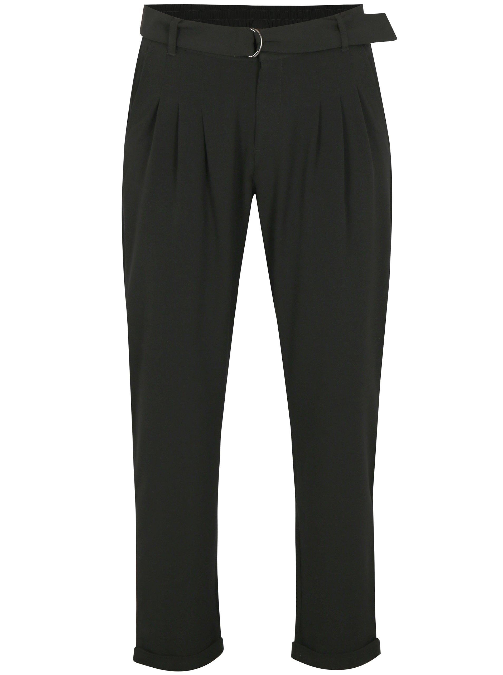 Čierne nohavice s vreckami a vysokým sedom Jacqueline de Yong Bax