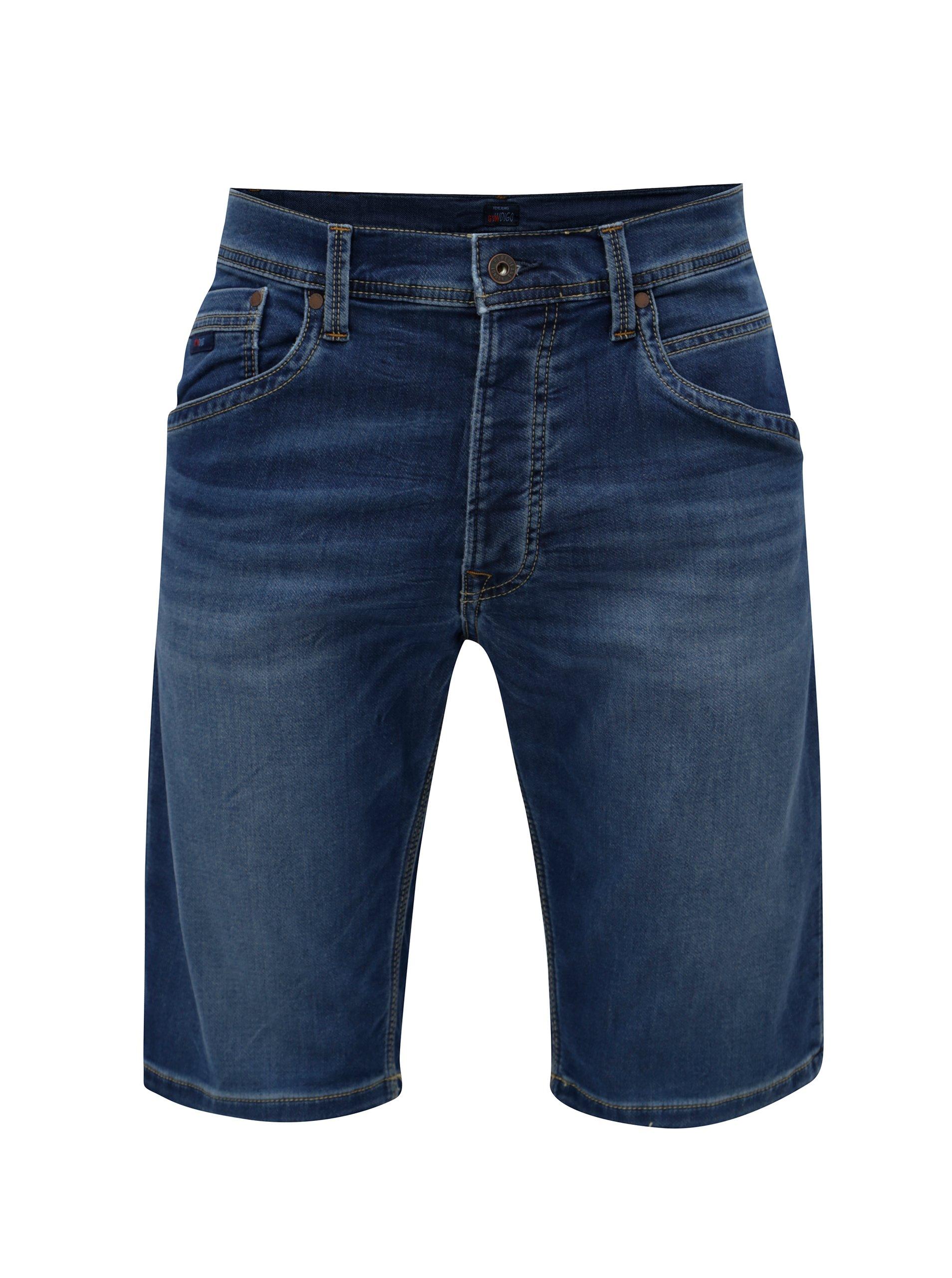 08414812212 Modré pánské džínové regular kraťasy Pepe Jeans Track short