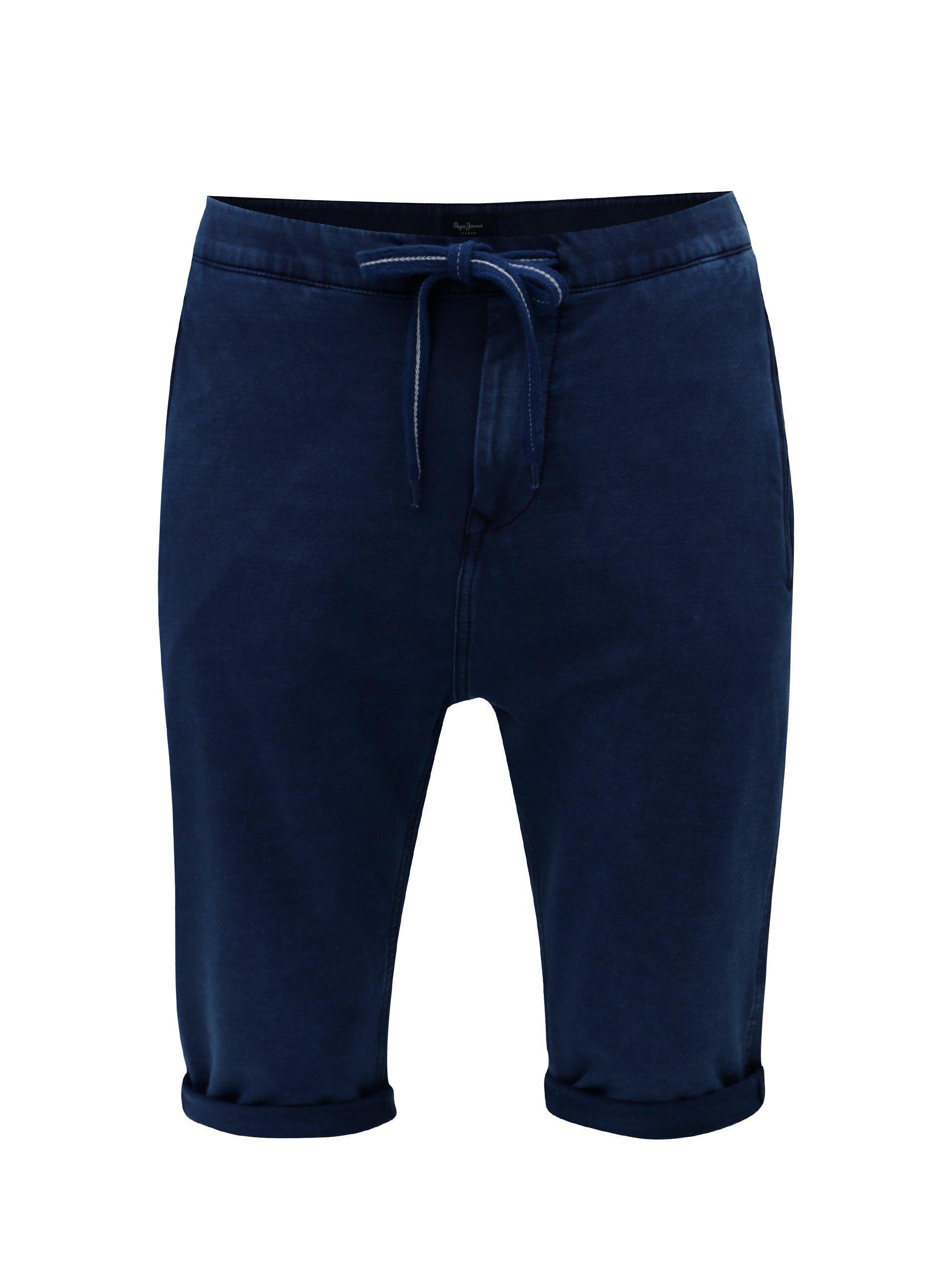 Tmavě modré pánské teplákové regular kraťasy Pepe Jeans Miles short 7cabea9232