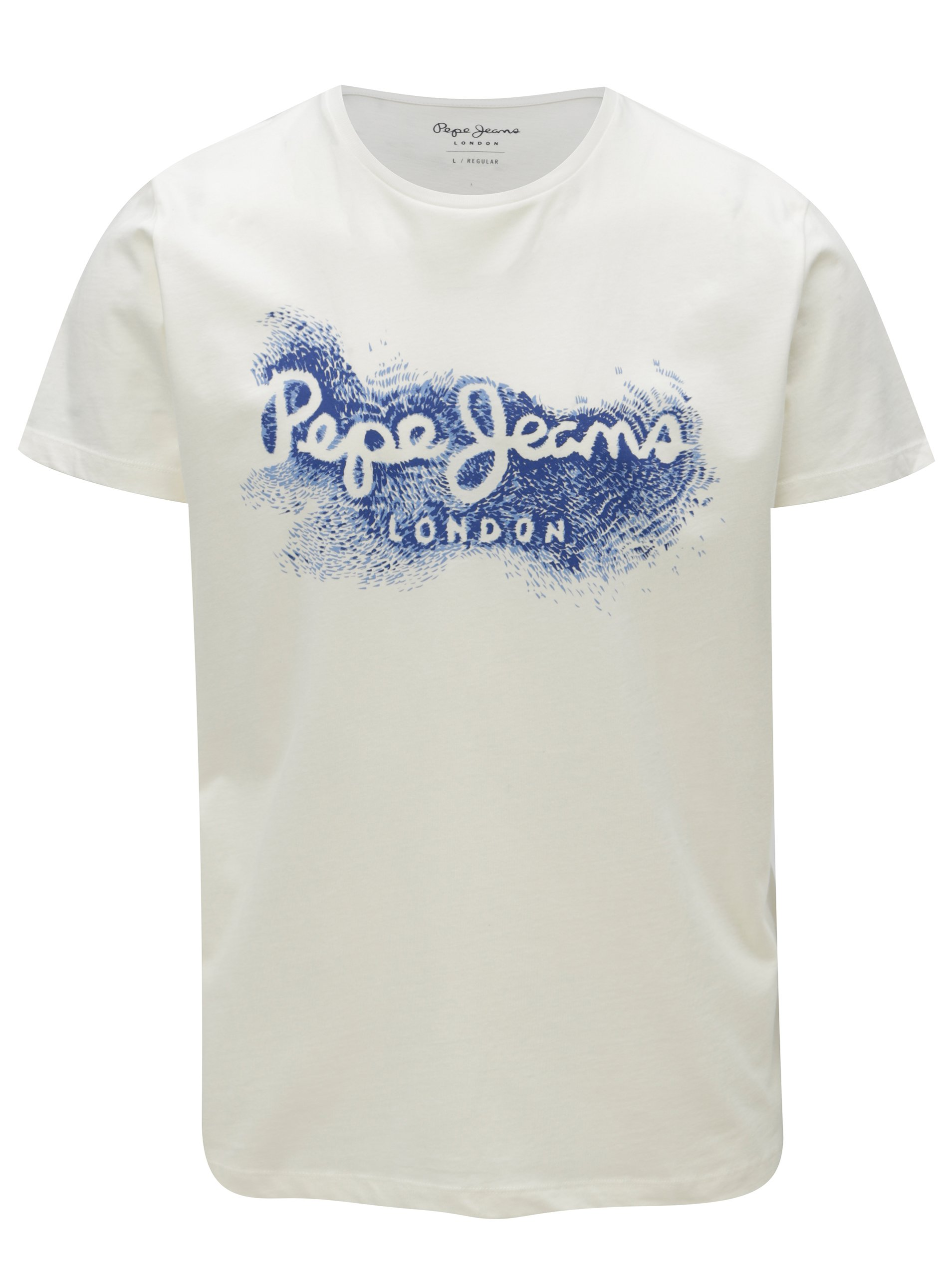 Krémové pánske regular fit tričko s potlačou Pepe Jeans Darren