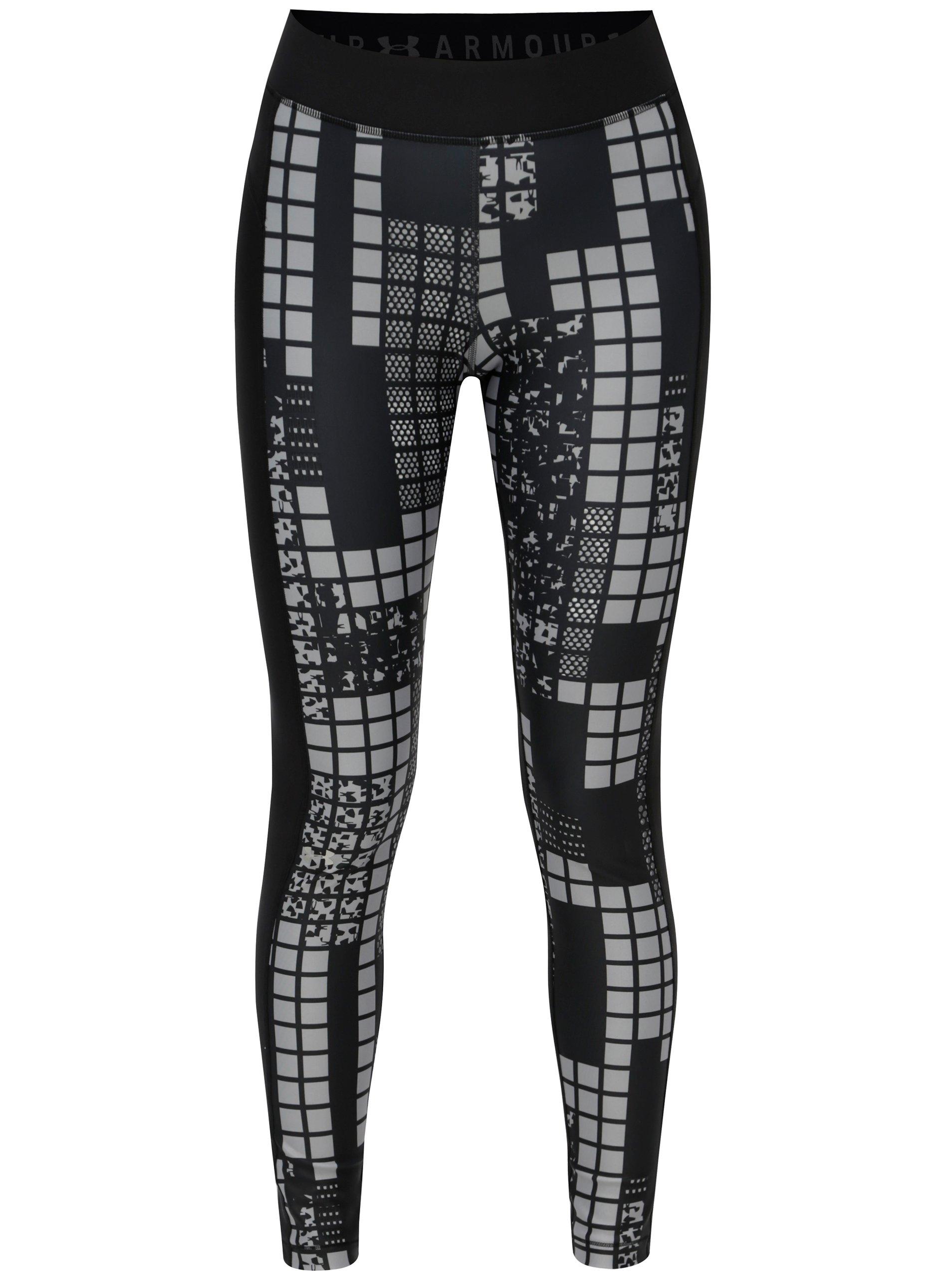 4fab21877916 Čierne vzorované dámske športové legíny Under Armour